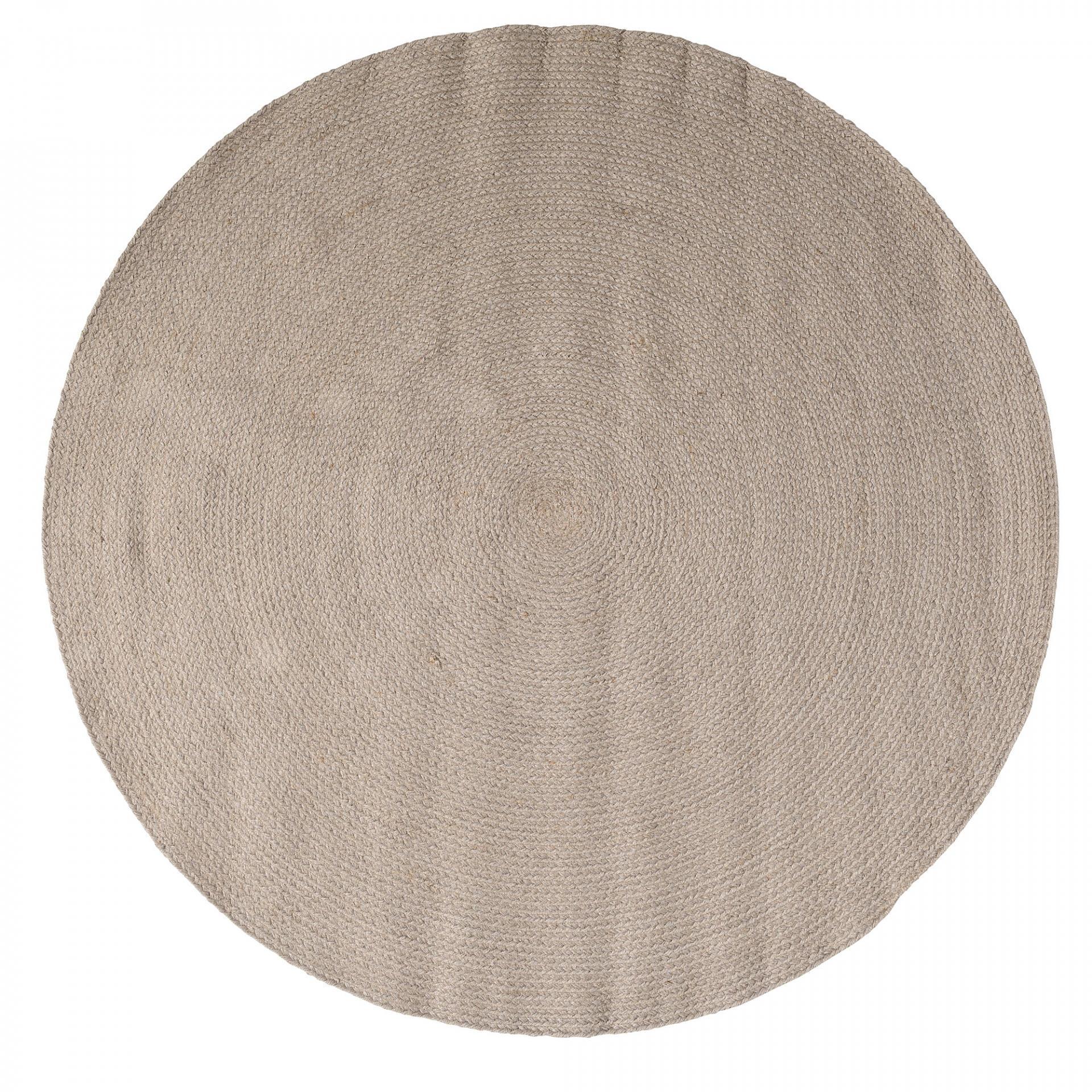 Bloomingville Jutový kobereček Stone - 120cm, šedá barva, hnědá barva, textil Hnědá