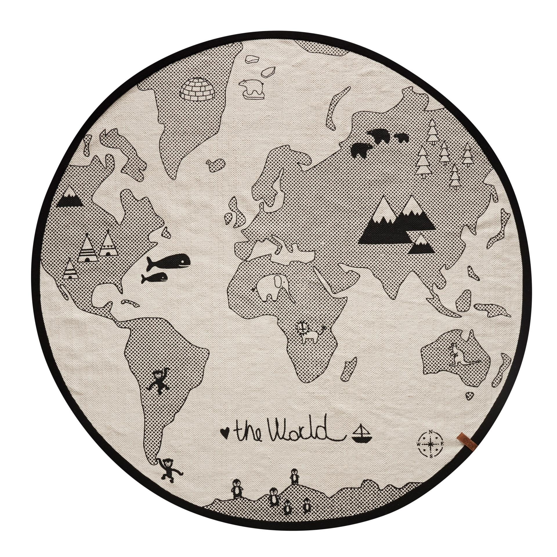 OYOY Bavlněný kobereček The World