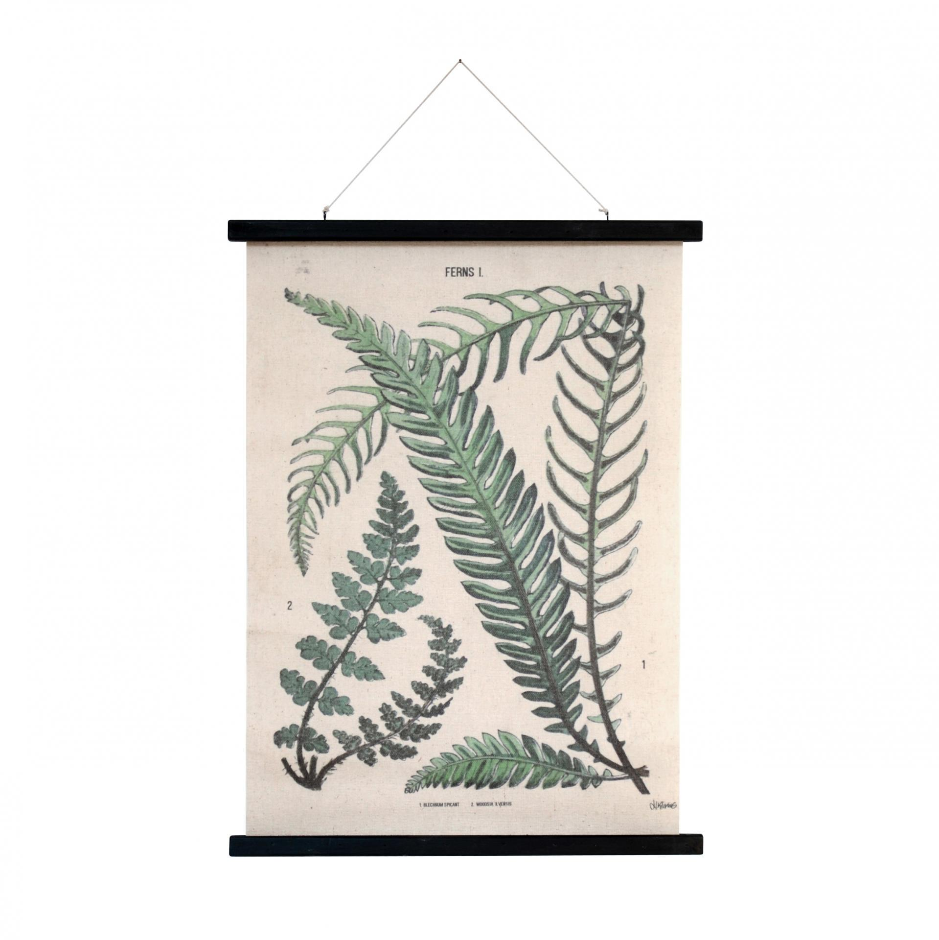 HK living Plátěný obraz s rámem Botanical L, zelená barva