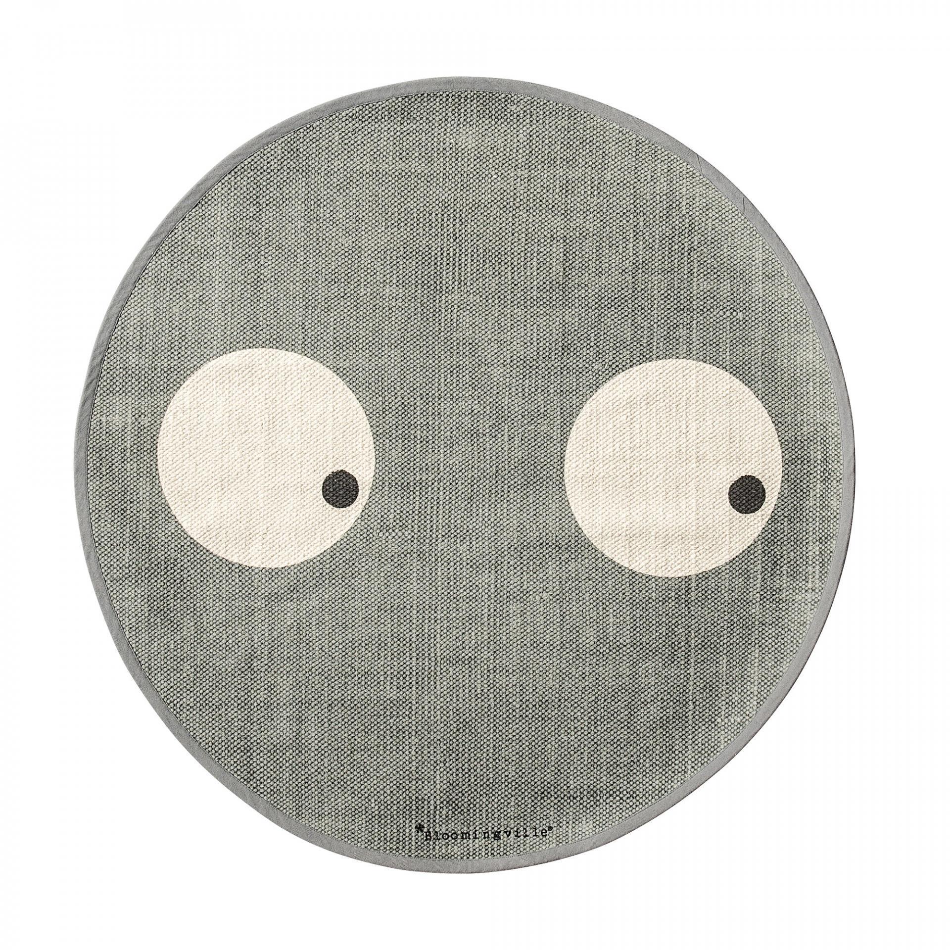 Bloomingville Kobereček do dětského pokoje Eyes Grey, šedá barva, textil Šedá