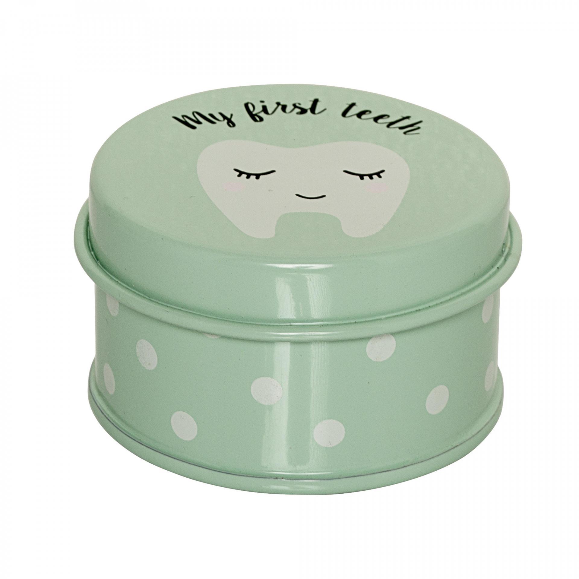 Bloomingville Kovová krabička na zoubky Mint, zelená barva, kov