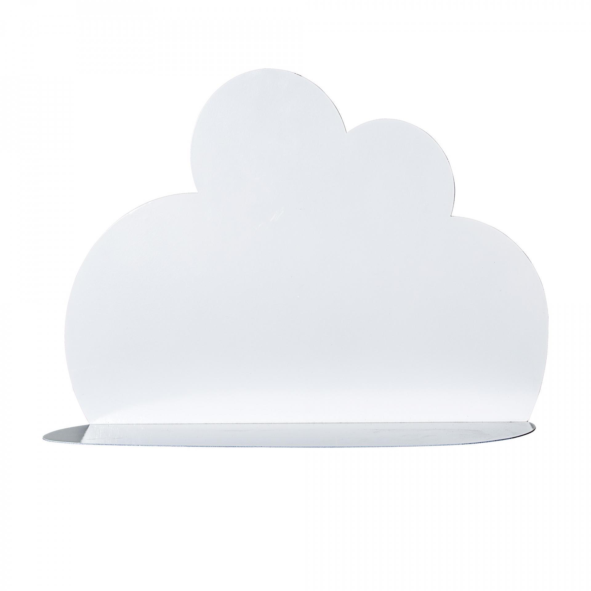 Bloomingville Kovová polička Cloud White - menší, bílá barva, kov