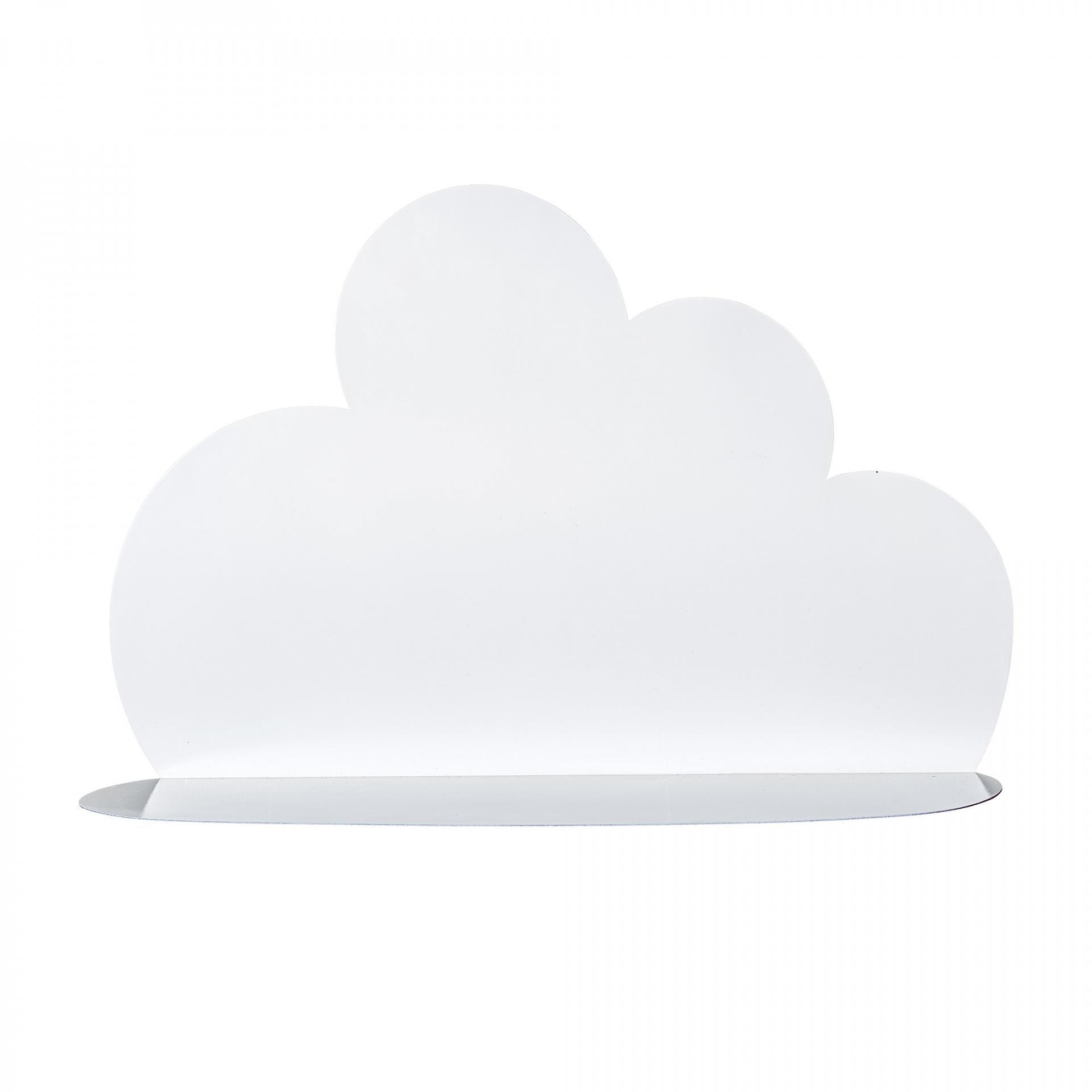 Bloomingville Kovová polička Cloud White - větší, bílá barva, kov