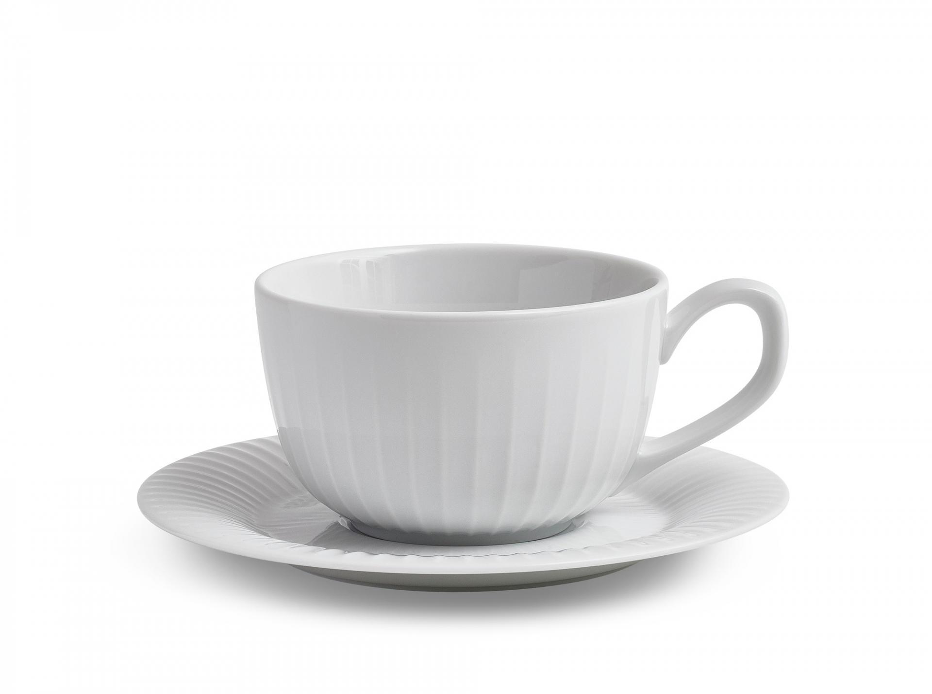 KÄHLER Šálek s podšálkem Hammershøi White, bílá barva, keramika