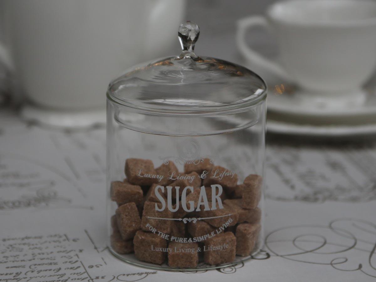 Chic Antique Skleněná dóza na cukr