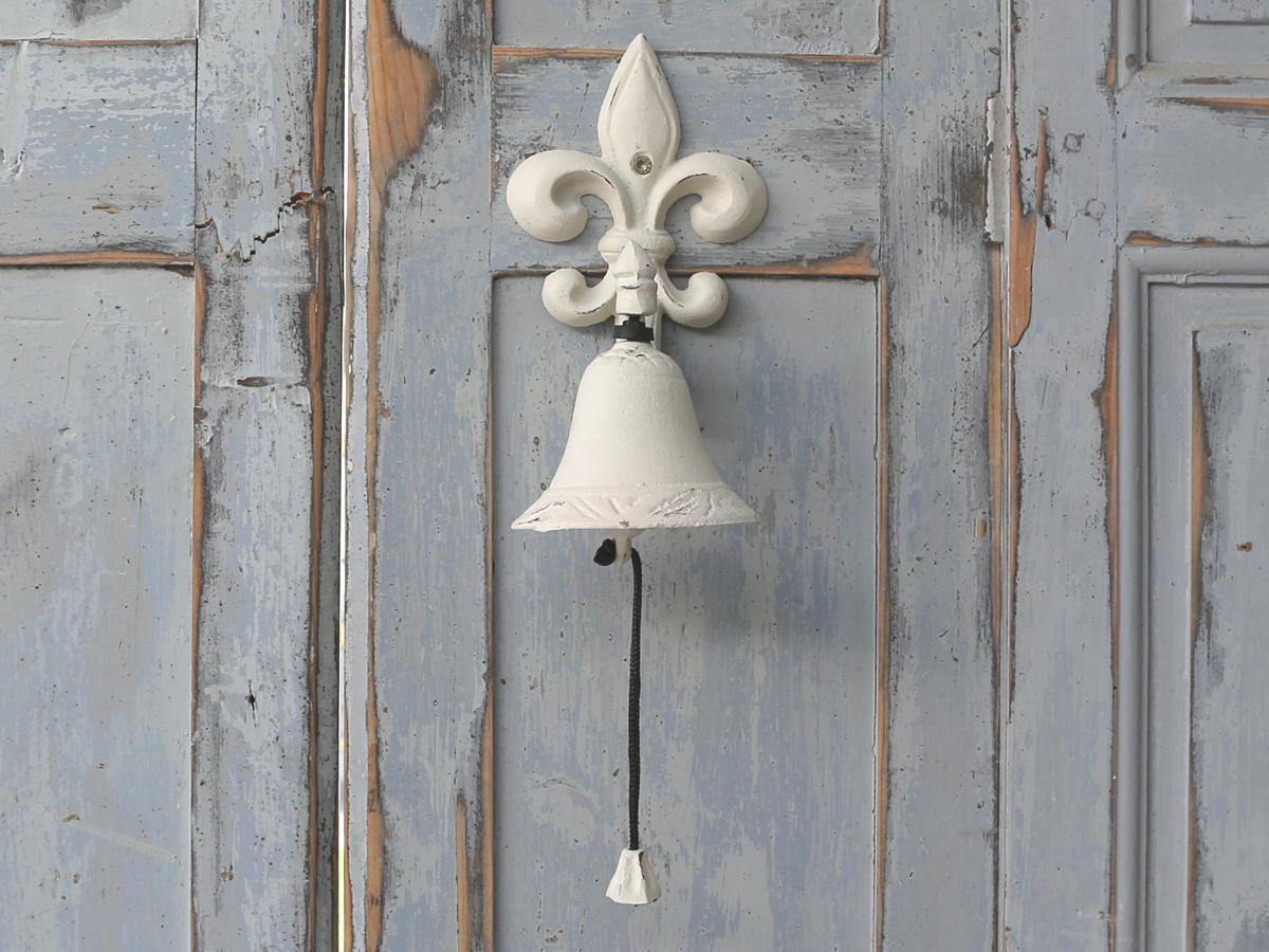 Chic Antique Zvon nad vchodové dveře Antique, krémová barva, kov