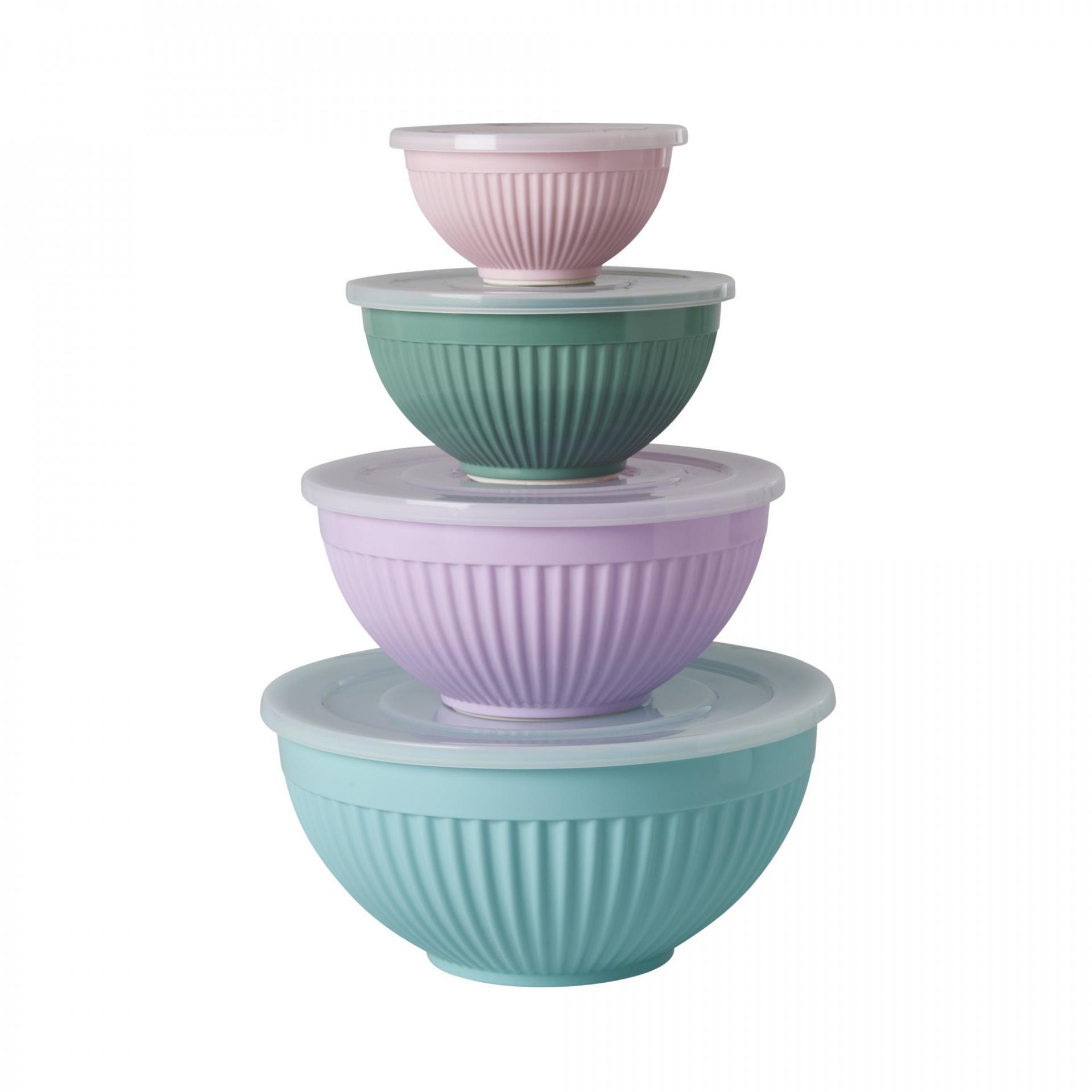 rice Melaminová miska s víčkem Extraordinary Růžová, růžová barva, fialová barva, zelená barva, melamin