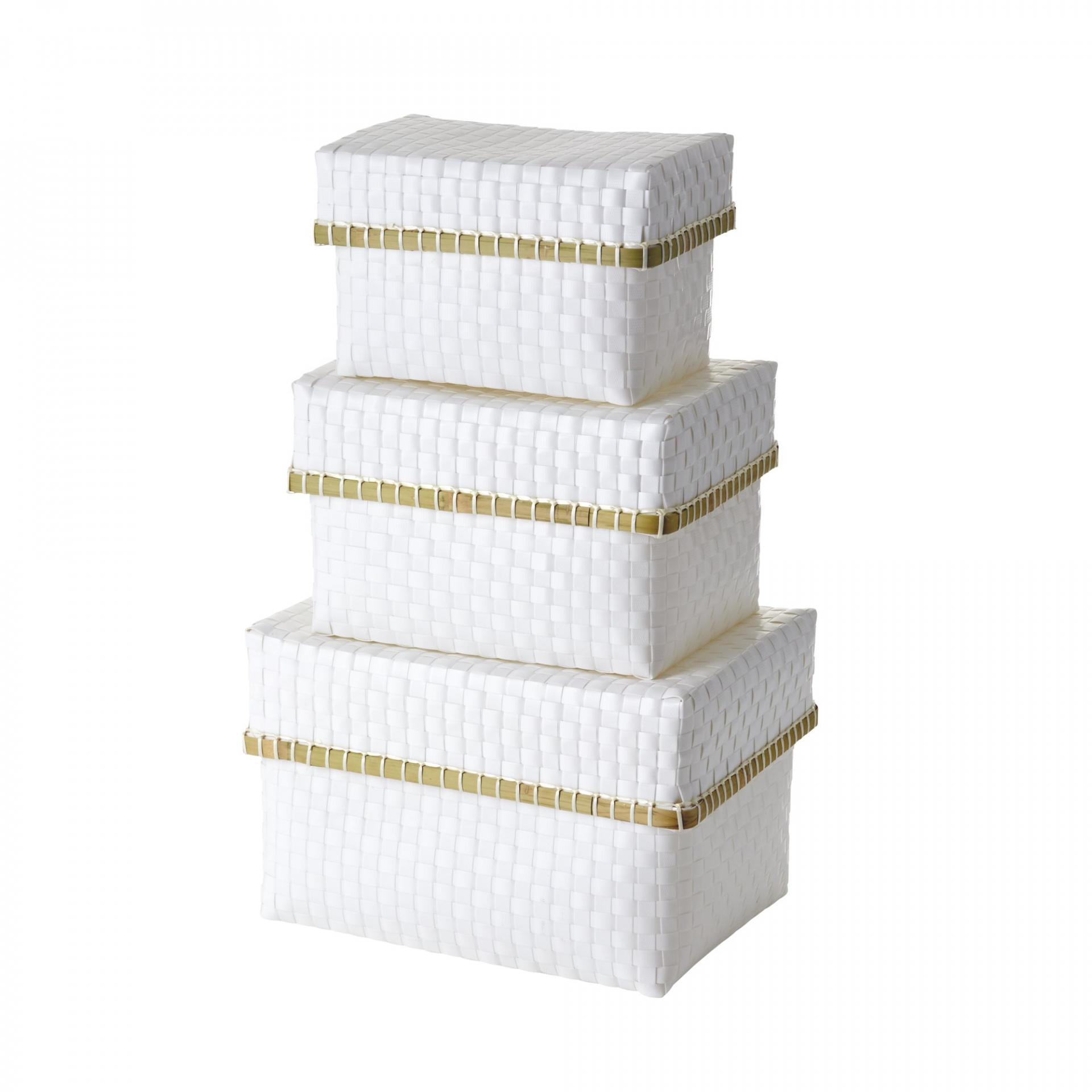 Rice Plastová krabice s víkem White Velikost S
