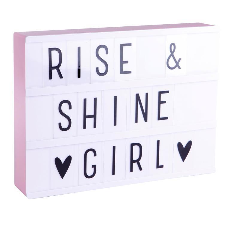 A Little Lovely company Svítící box s nápisy Lightbox Pink A4