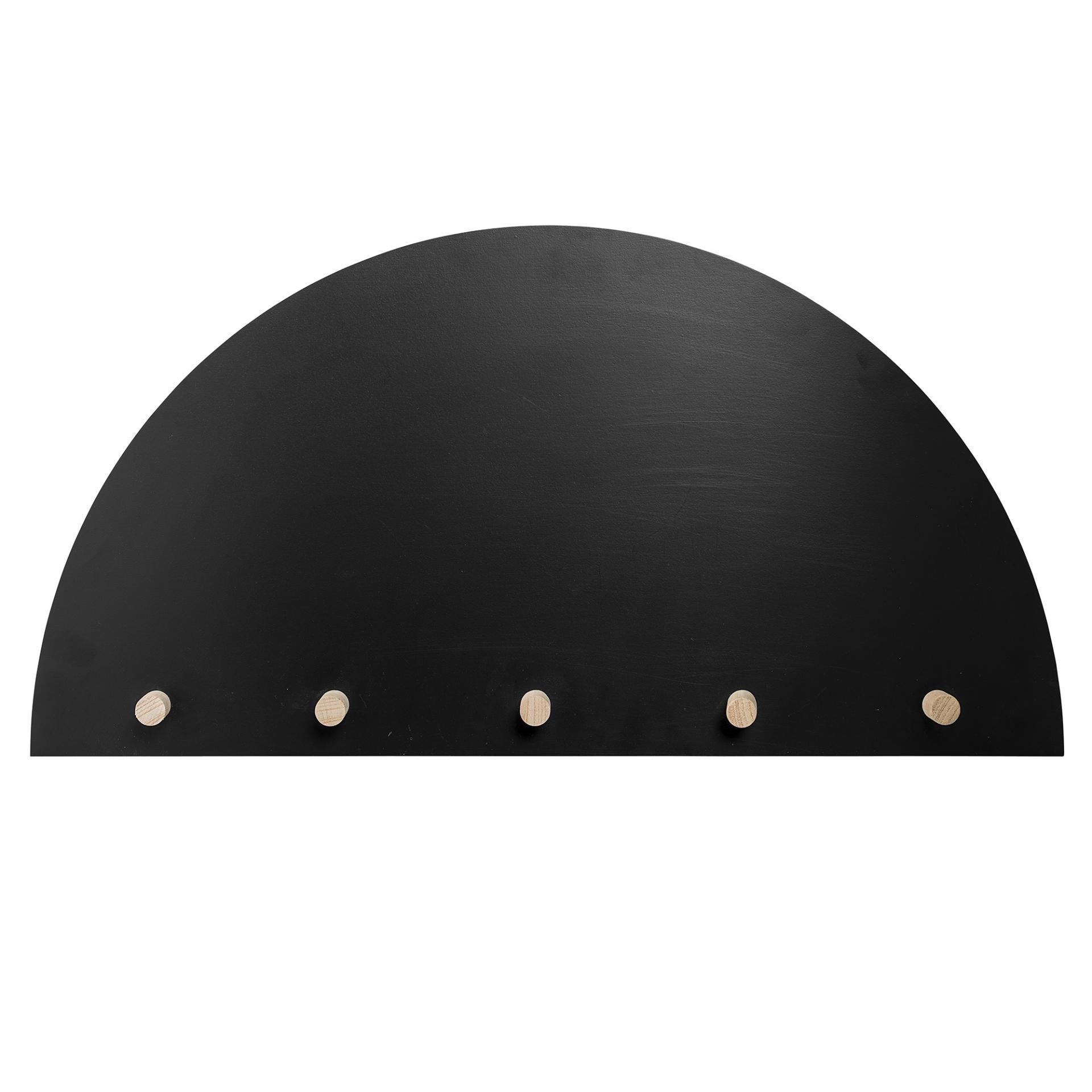 Bloomingville Dřevěná tabule s věšáky Black