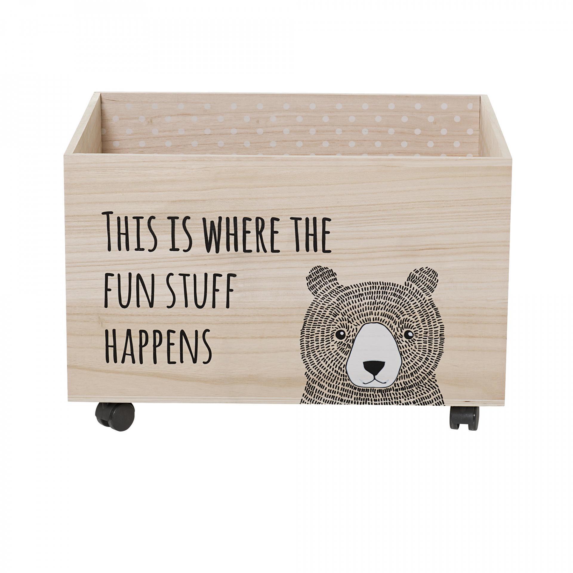 Bloomingville Úložný box na kolečkách Fun stuff