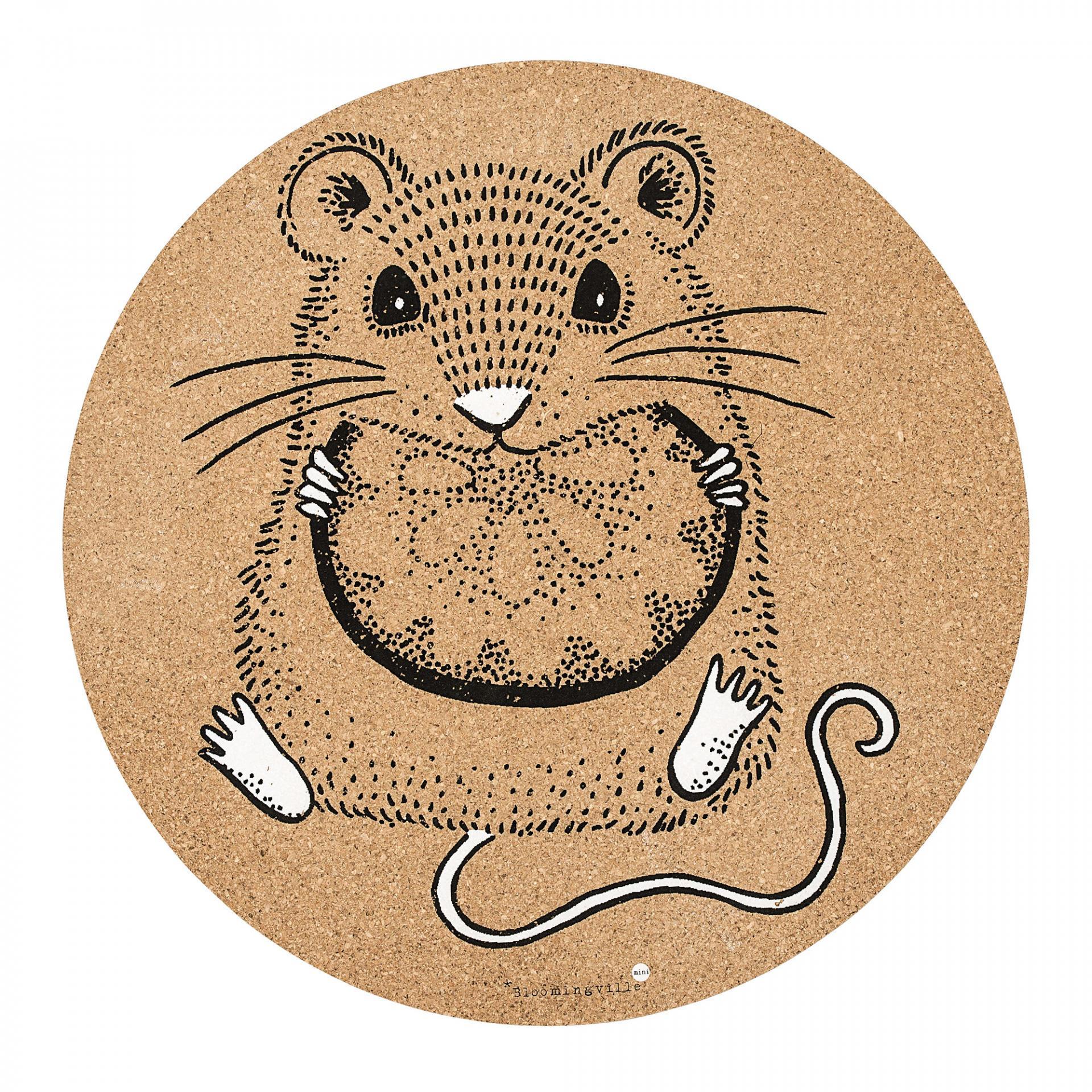 Bloomingville Korkové prostírání Mouse, hnědá barva, korek