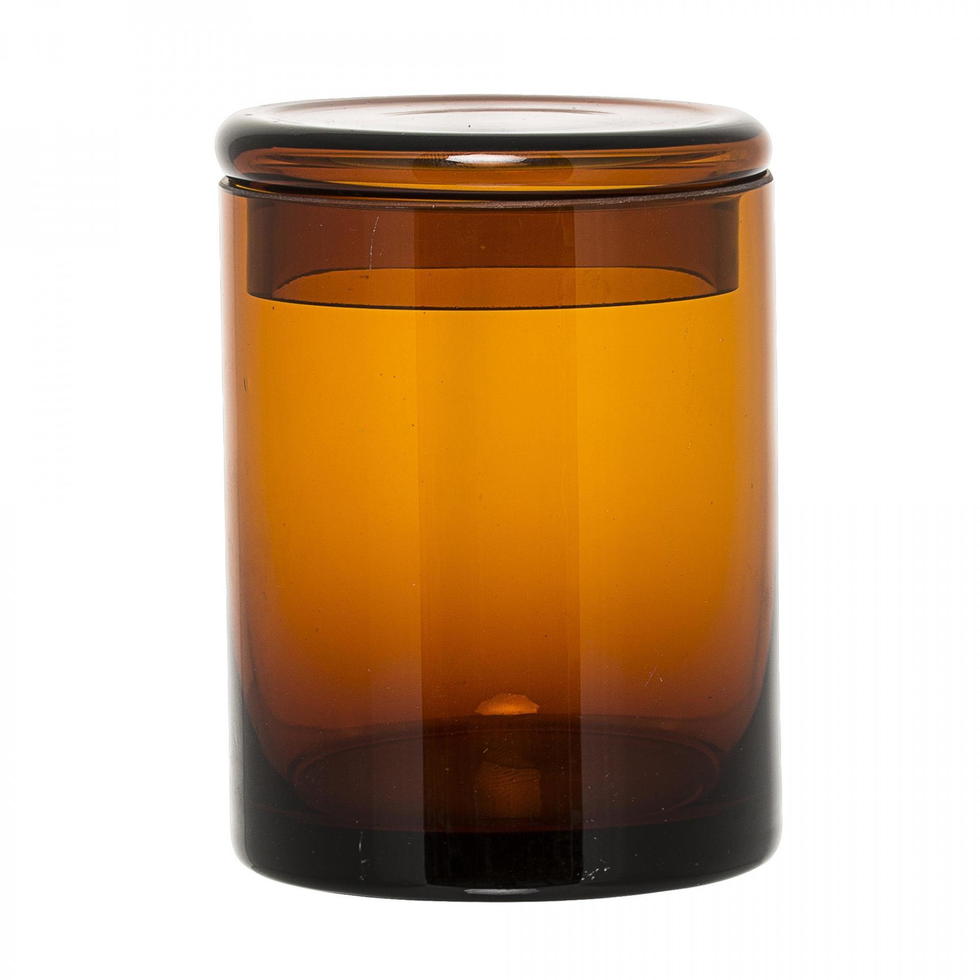 Bloomingville Skleněná dóza Brown glass
