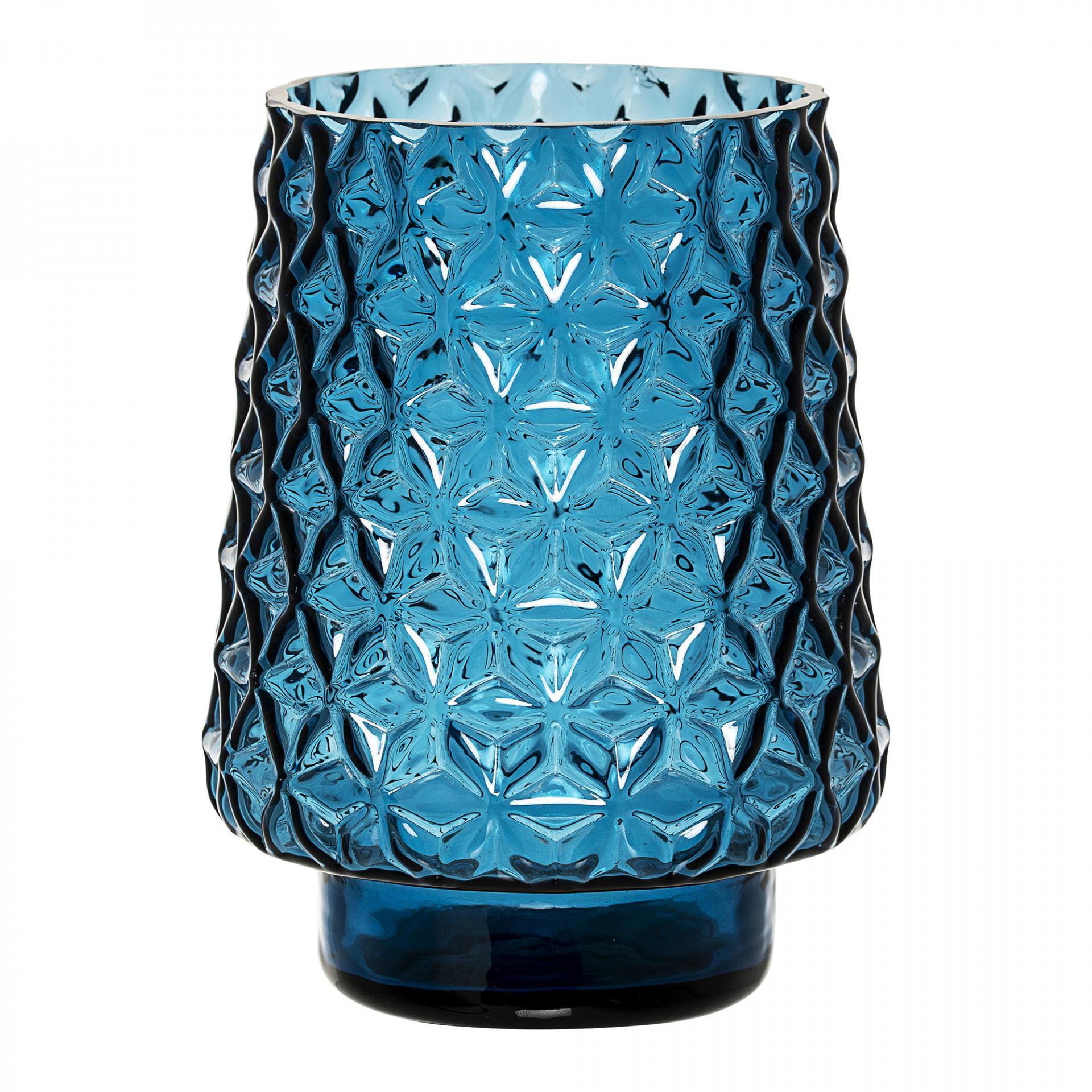 Bloomingville Skleněná váza Blue