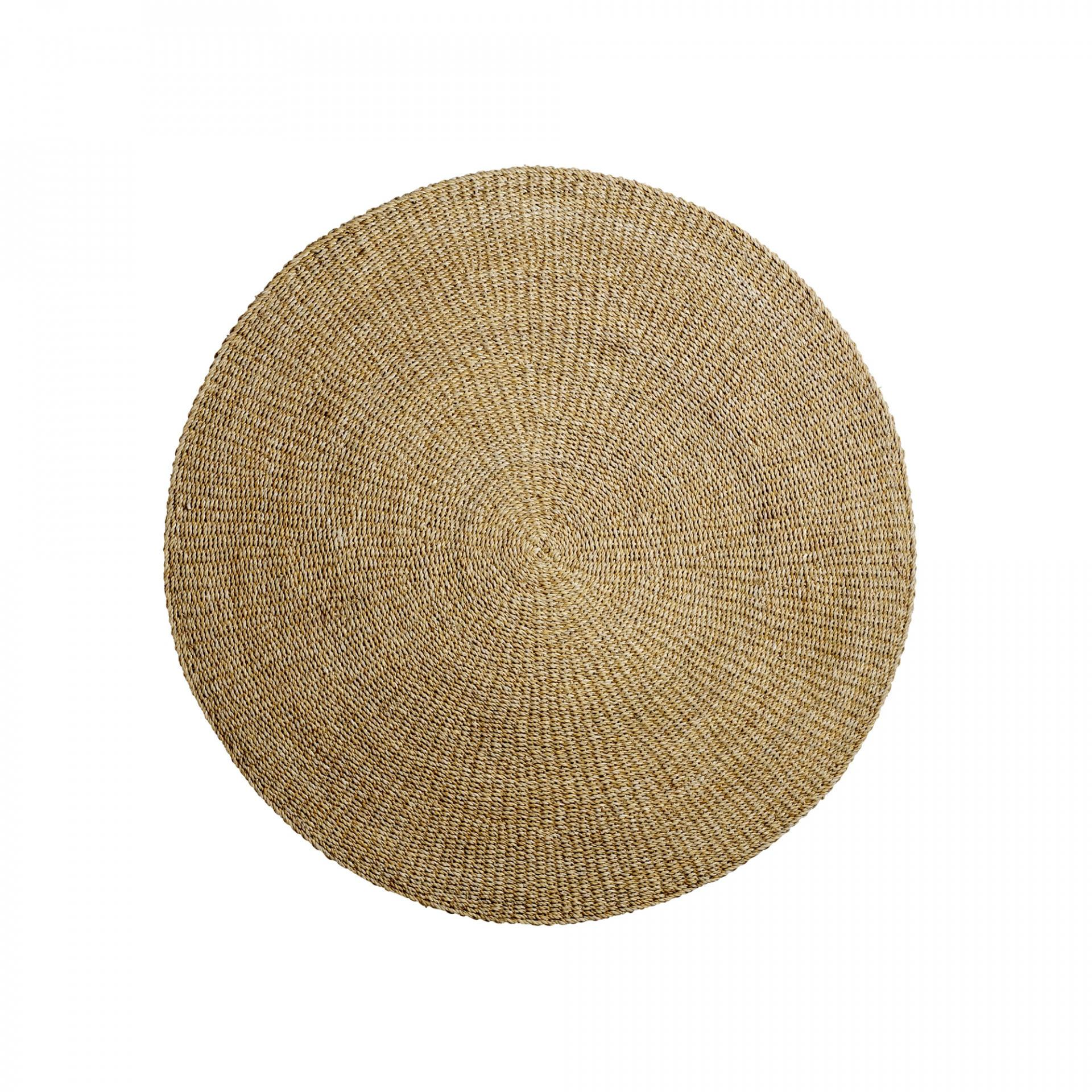 Bloomingville Kulatý koberec Sea Grass 120cm, hnědá barva
