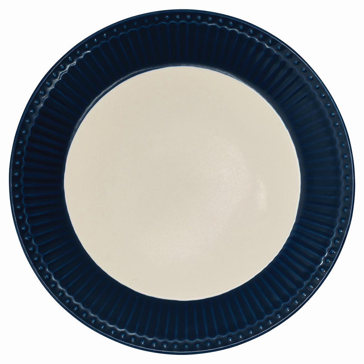 GREEN GATE Dezertní talíř Alice dark blue, modrá barva, porcelán