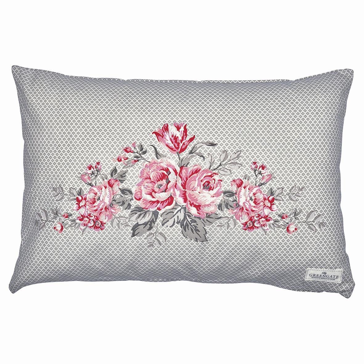 Green Gate Povlak na polštář Judy warm grey 40x60, růžová barva, šedá barva, textil