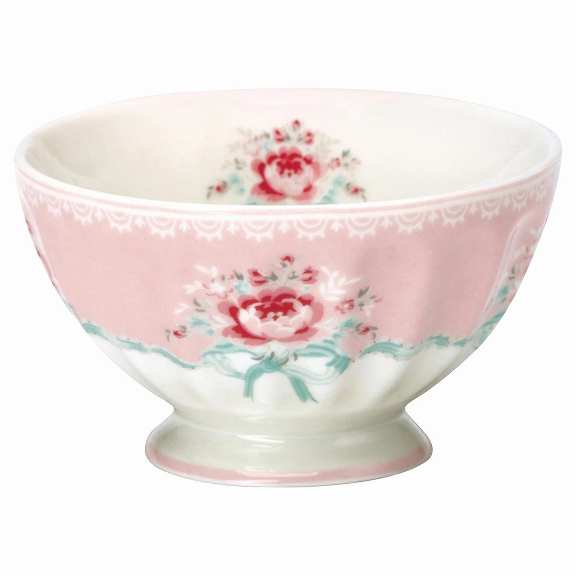 GREEN GATE Francouzská miska Betty pale pink, růžová barva, bílá barva, porcelán