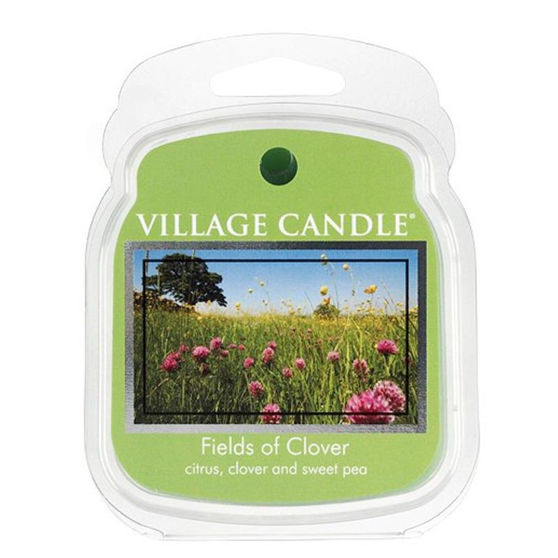 VILLAGE CANDLE Vosk do aromalampy Fields of Clover, zelená barva, plast