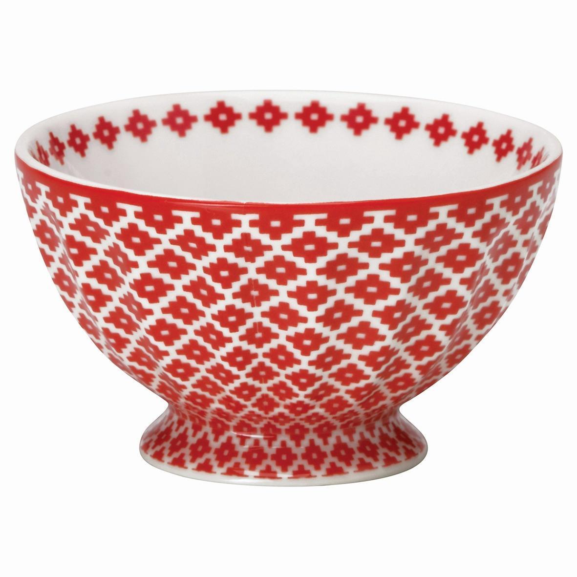 GREEN GATE Francouzská miska Judy red M, červená barva, porcelán
