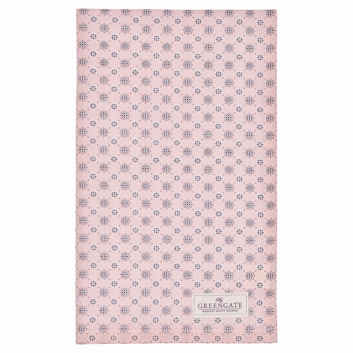 GREEN GATE Utěrka Laurie nude, růžová barva, textil