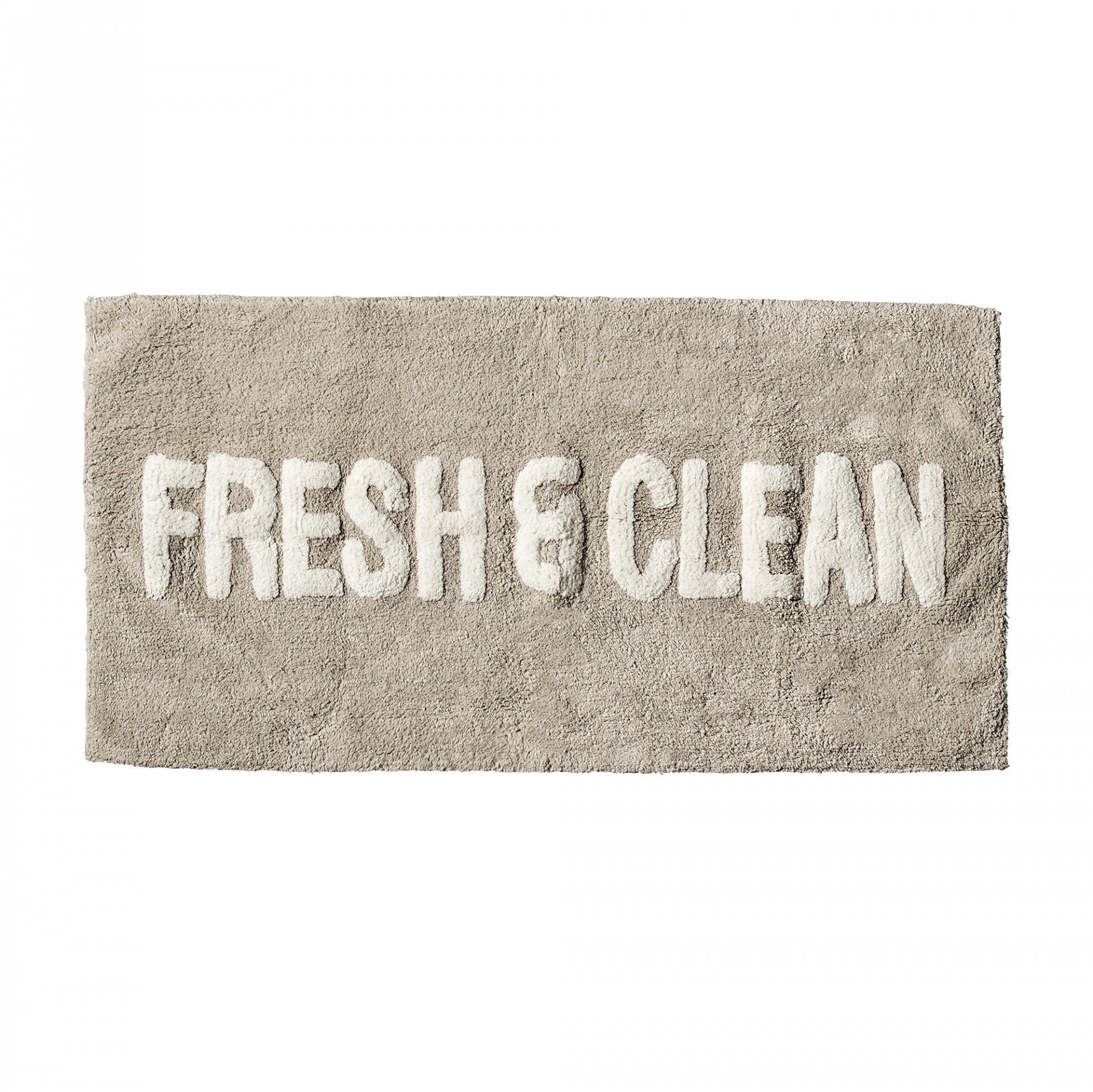 Bloomingville Předložka do koupelny 100x50, béžová barva, šedá barva, textil