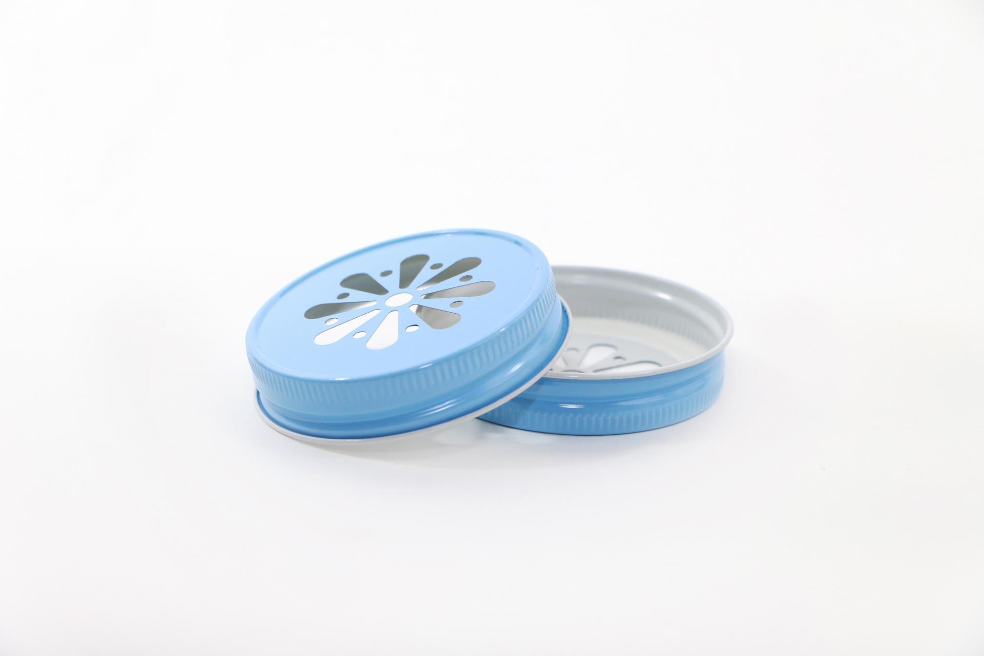 Ball Dekorativní kovové víčko Ball modré, modrá barva, kov