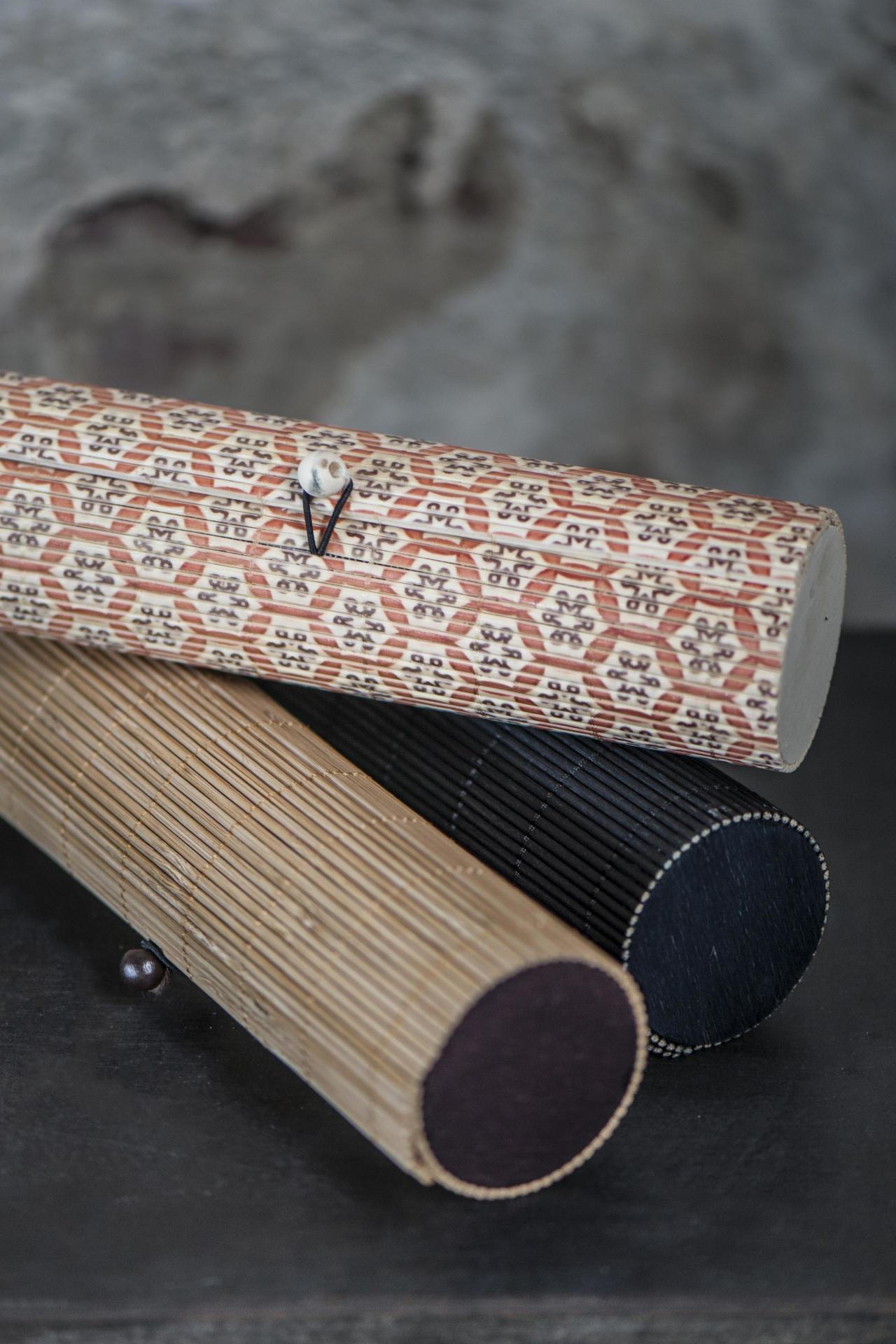 IB LAURSEN Bambusové pouzdro na tužky Mix Přírodní, oranžová barva, béžová barva, černá barva, dřevo, dřevotříska