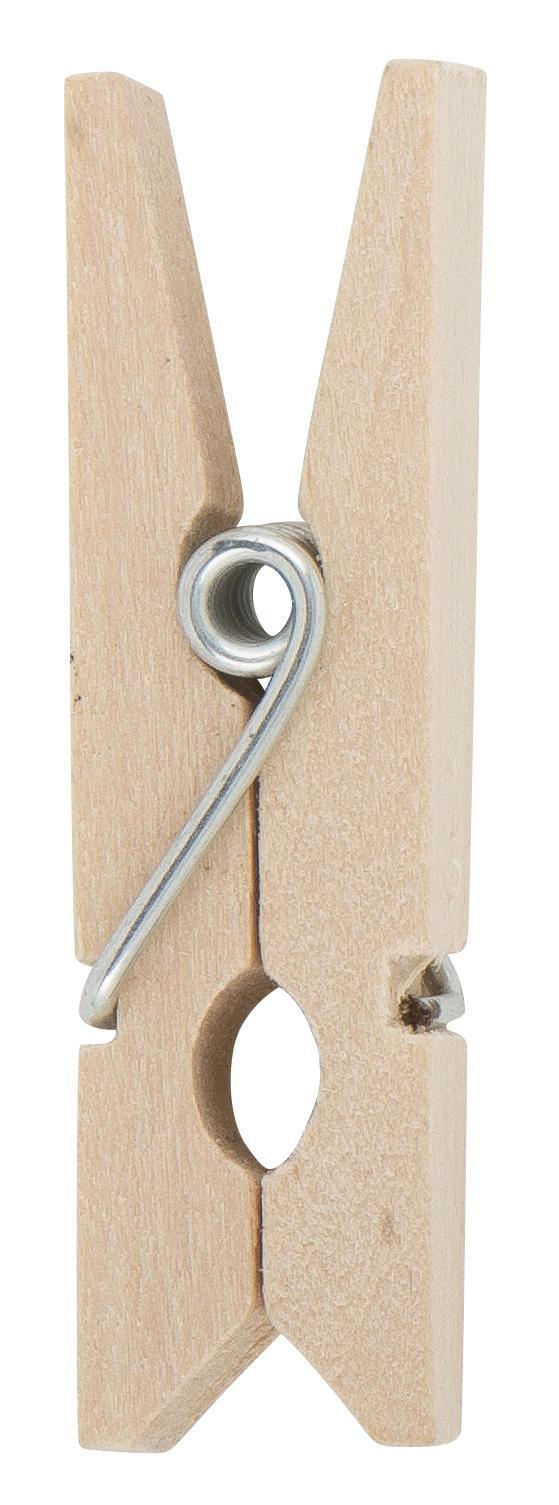 IB LAURSEN Mini dřevěné kolíčky Natur - 10 ks, hnědá barva, dřevo