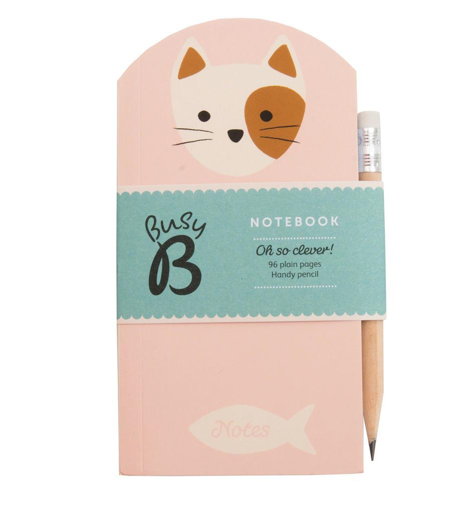 Busy B Poznámkový bloček s tužkou Cat Cute