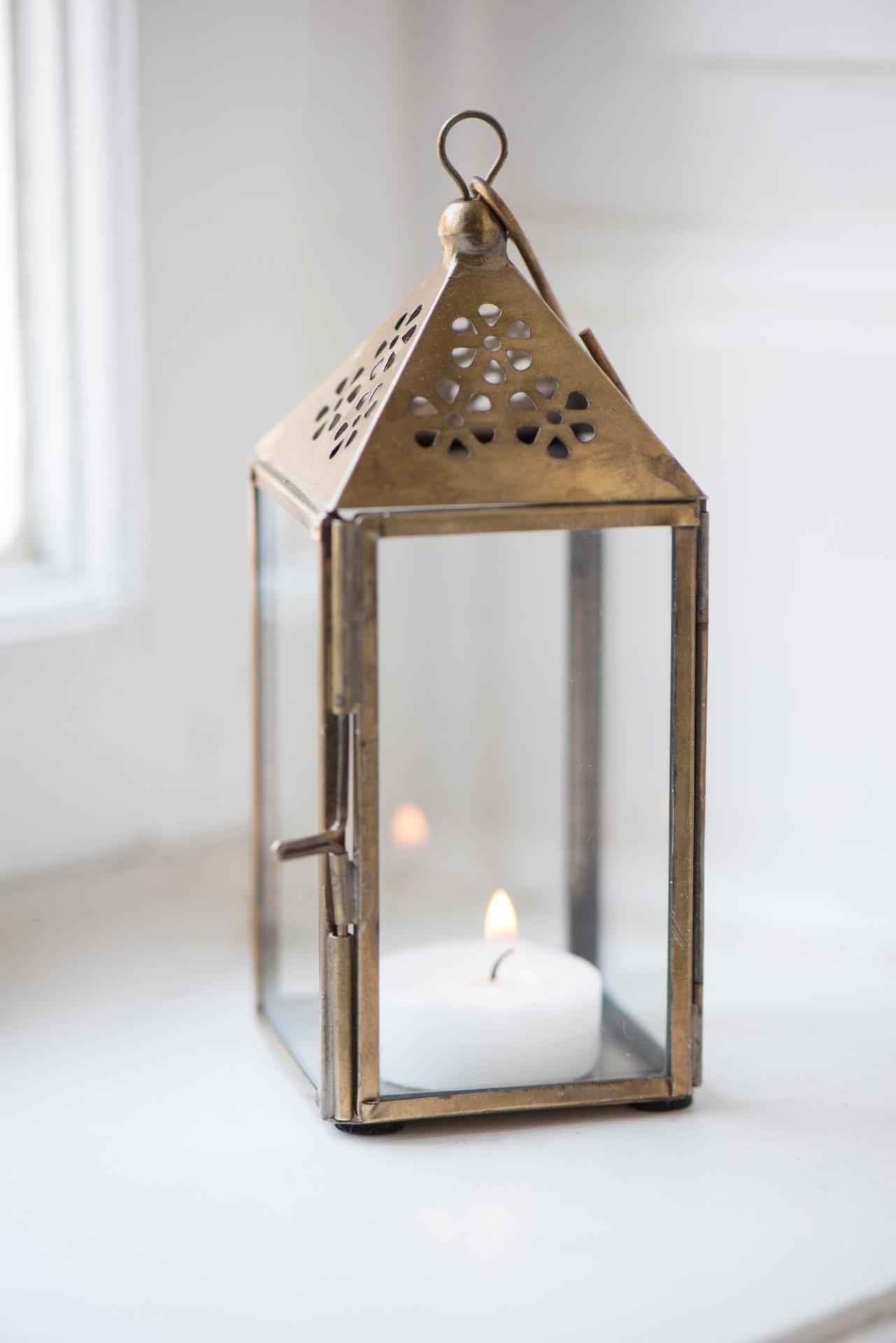 IB LAURSEN Mini lucerna Triangular Brass, měděná barva, sklo, kov