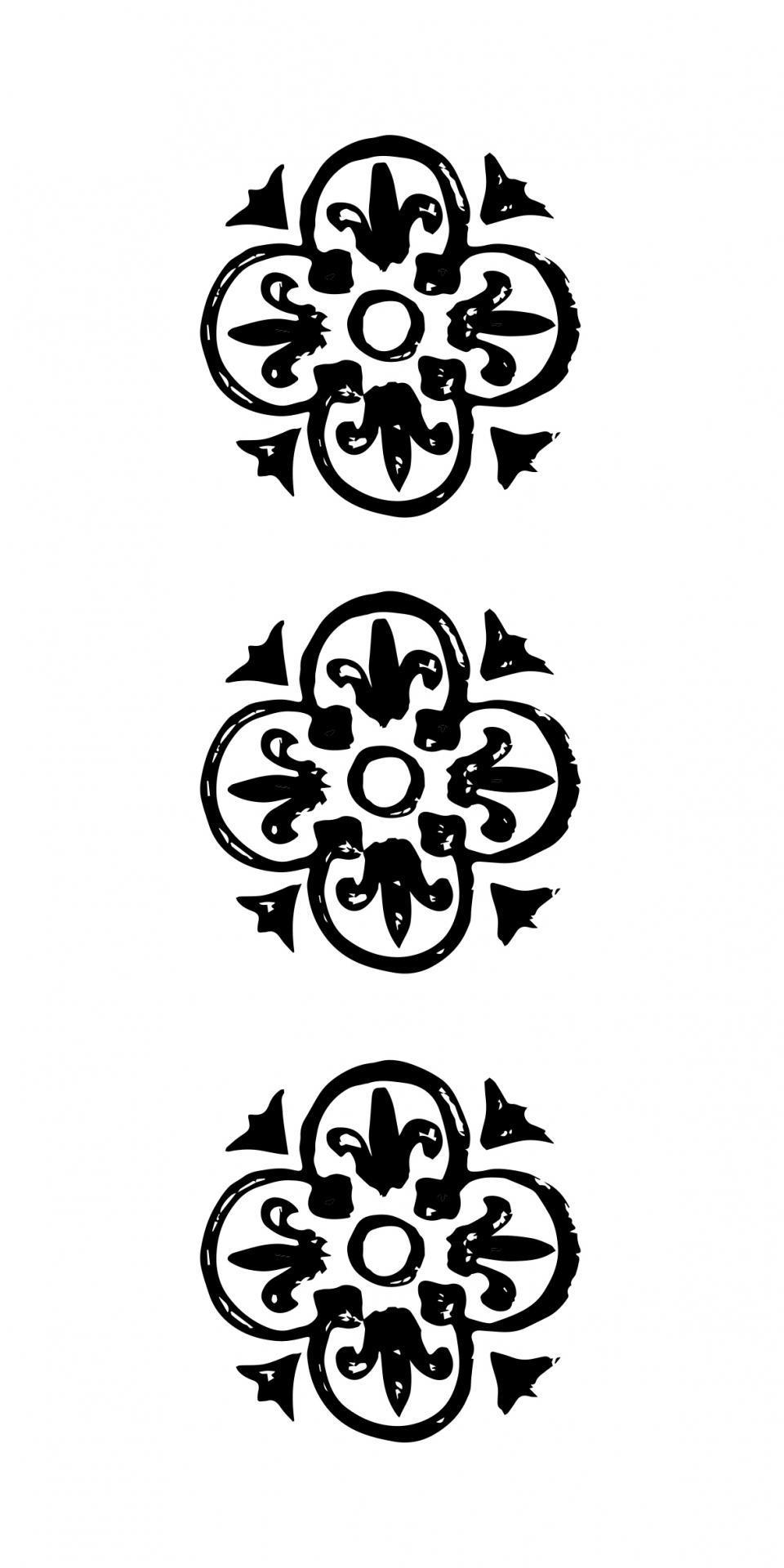 IB LAURSEN Papírové ubrousky Black pattern, černá barva, bílá barva, papír