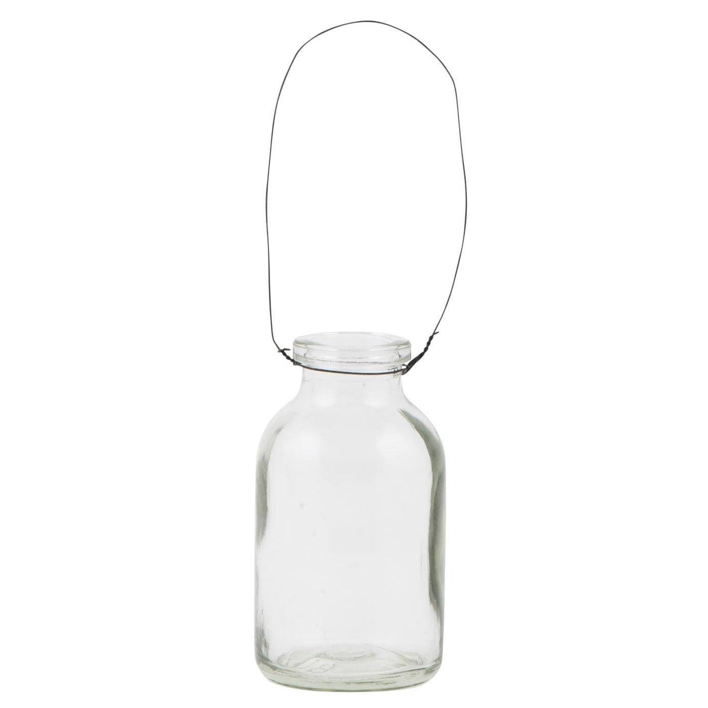 IB LAURSEN Mini lahvička 5 cm, čirá barva, sklo