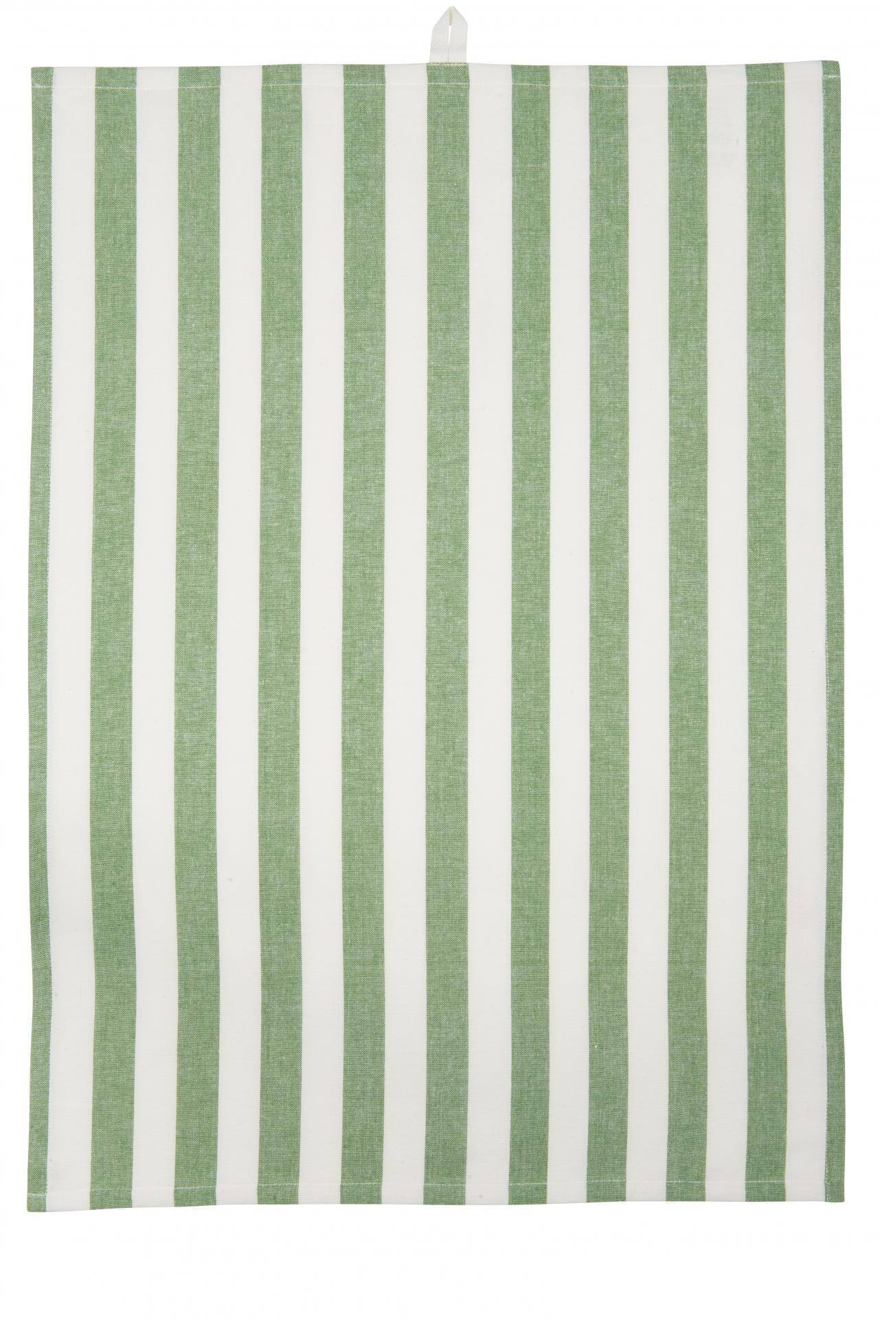 IB LAURSEN Utěrka Stripes green