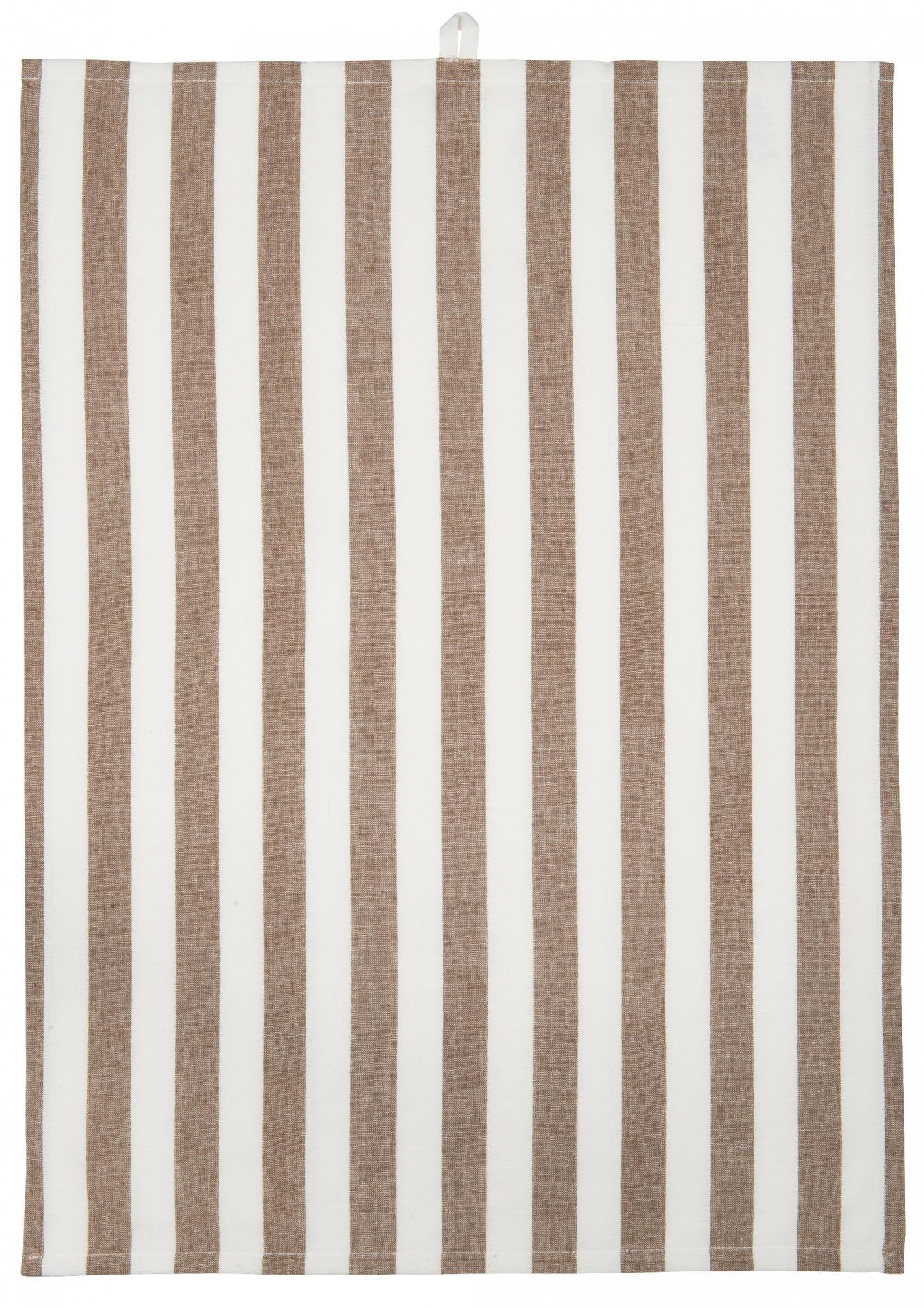 IB LAURSEN Utěrka Stripes brown