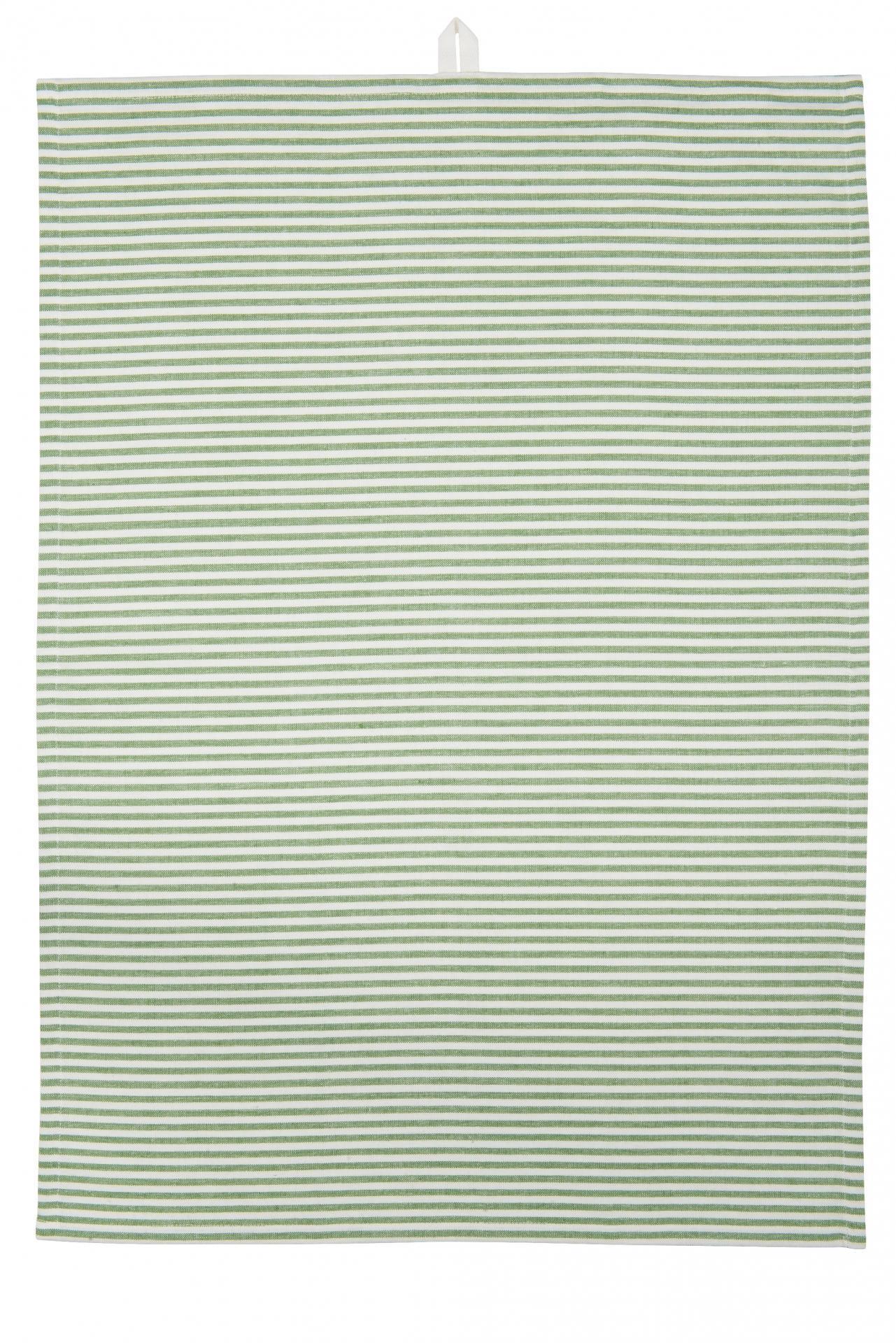 IB LAURSEN Utěrka Green stripes