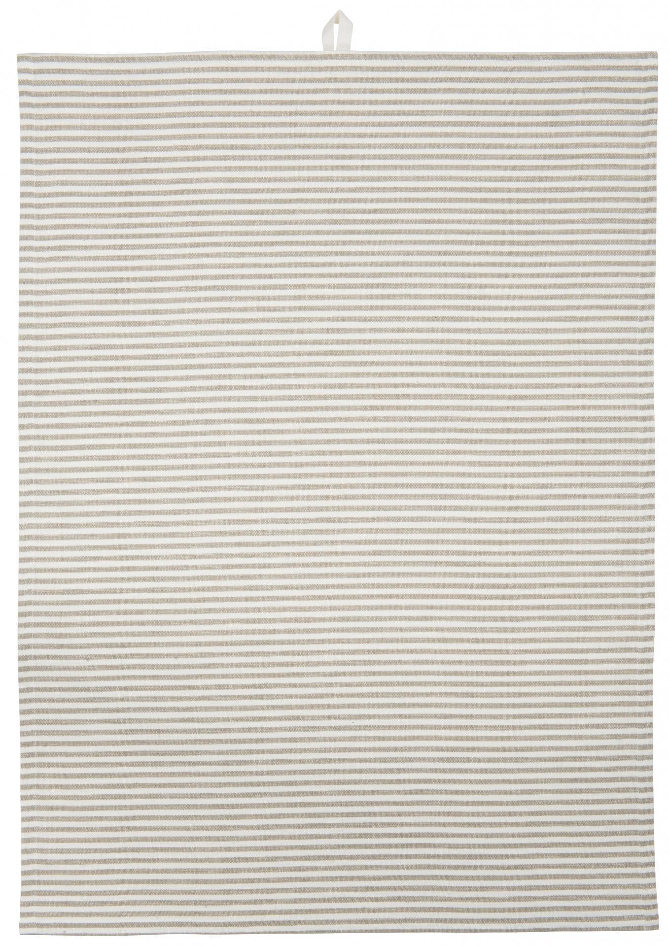 IB LAURSEN Utěrka Cream stripes