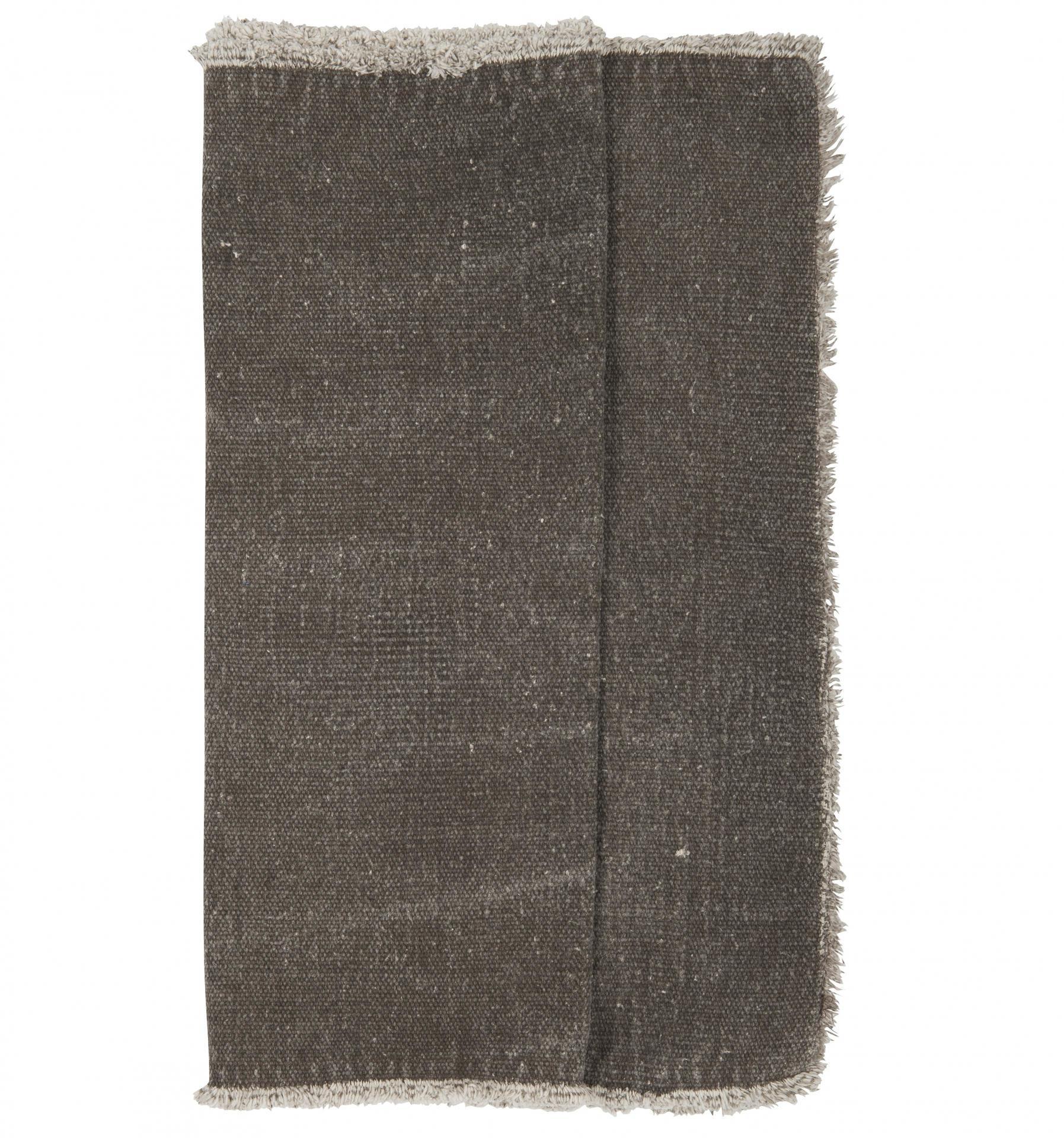 IB LAURSEN Běhoun na stůl Brown, hnědá barva, textil