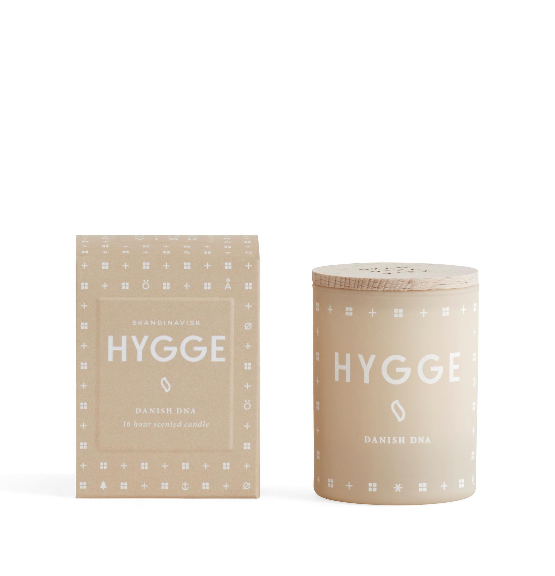 SKANDINAVISK Vonná svíčka HYGGE (útulný domov) mini 55 g, béžová barva, sklo