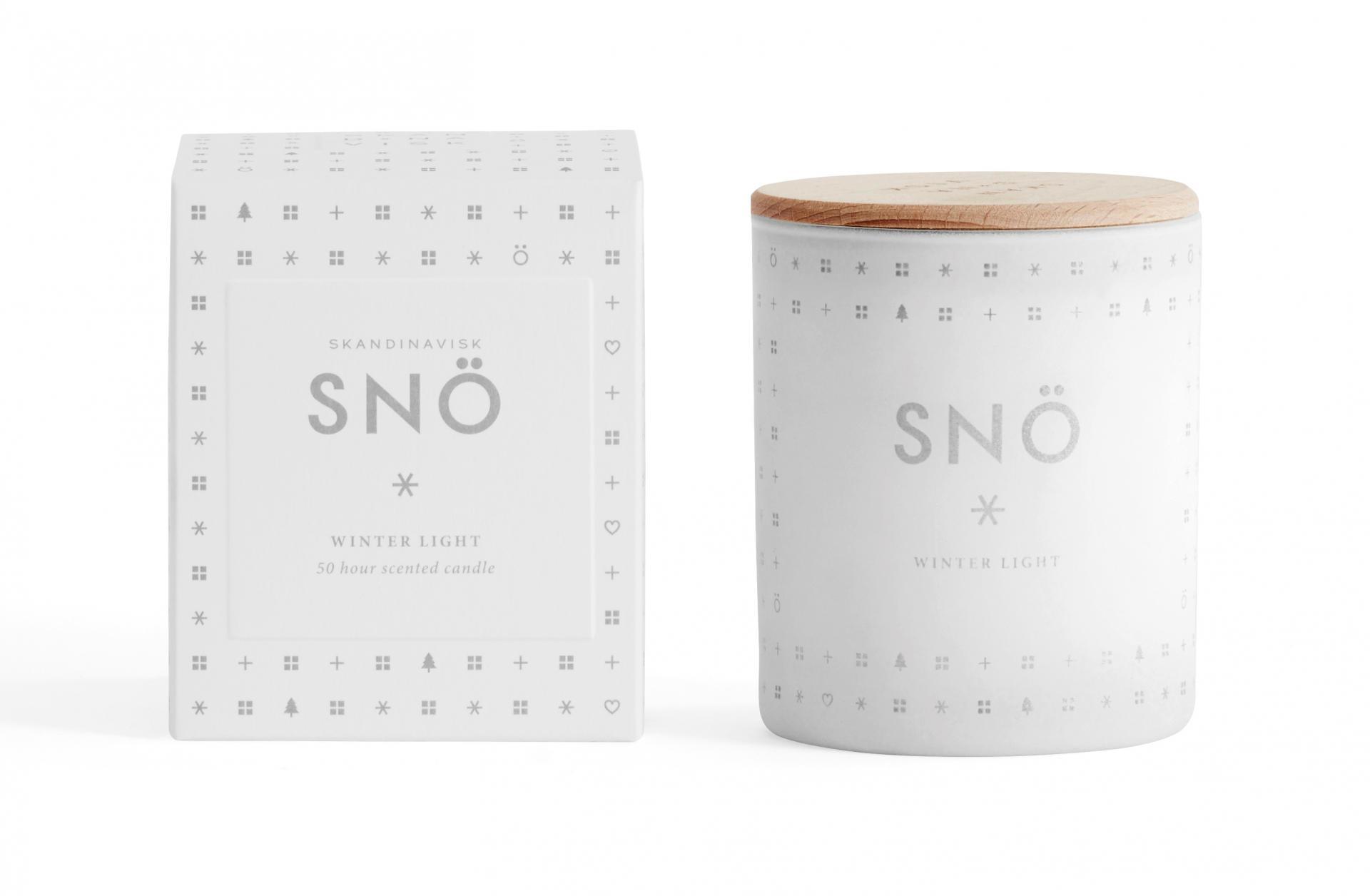 Skandinavisk Vonná svíčka SNÖ (sníh) 190 g
