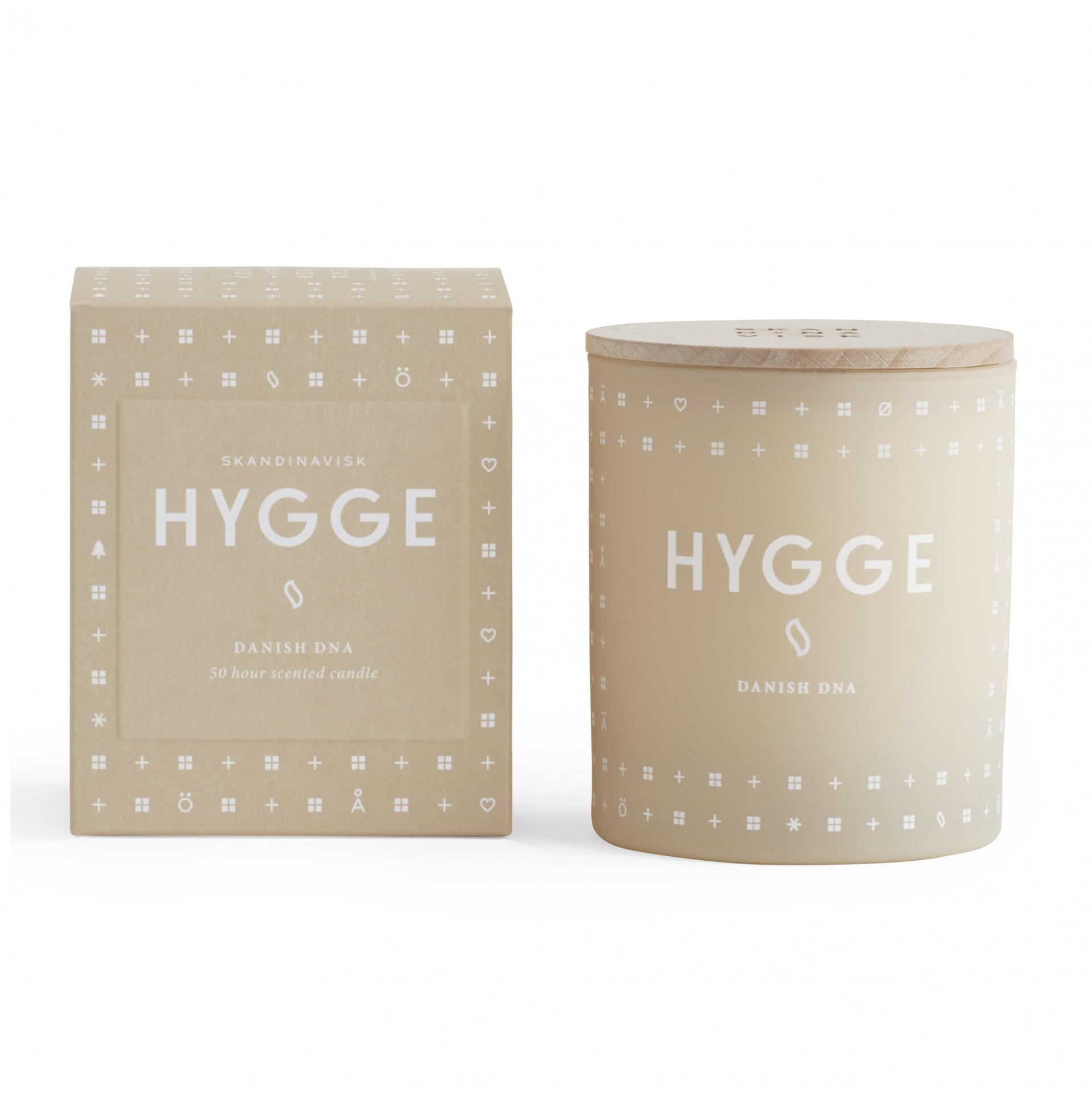 SKANDINAVISK Vonná svíčka HYGGE (útulný domov) 190 g, béžová barva, sklo