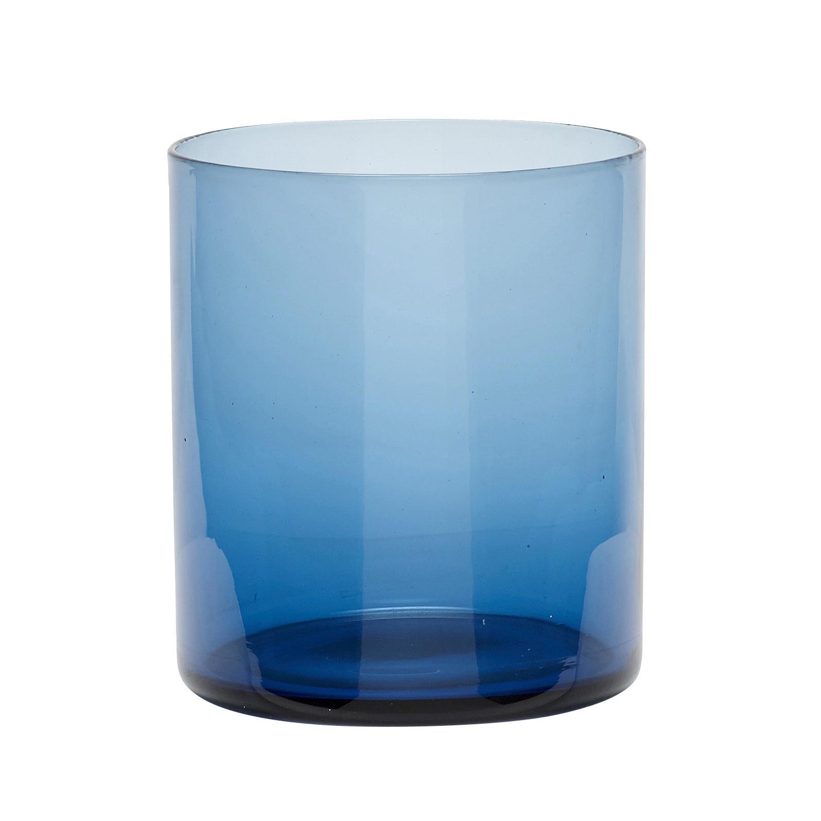 Hübsch Skleněný svícen Blue