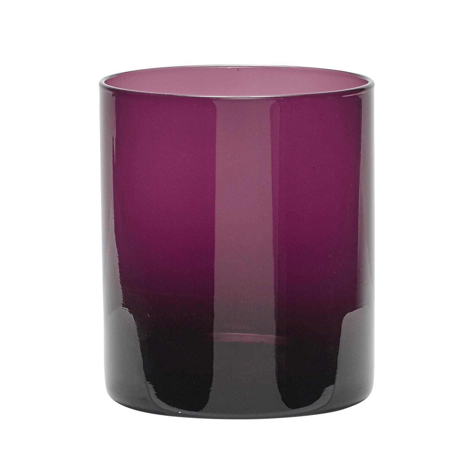 Hübsch Skleněný svícen Purple
