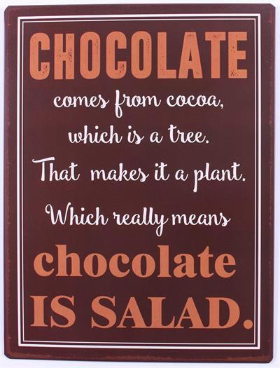 La Finesse Plechová cedule Chocolate