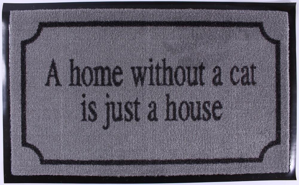 La Finesse Rohožka Home without a cat, šedá barva