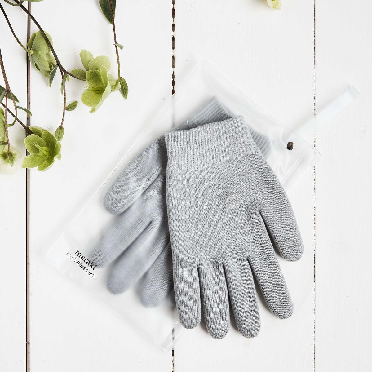meraki Hydratační rukavice Meraki - 2 ks, šedá barva, plast, textil