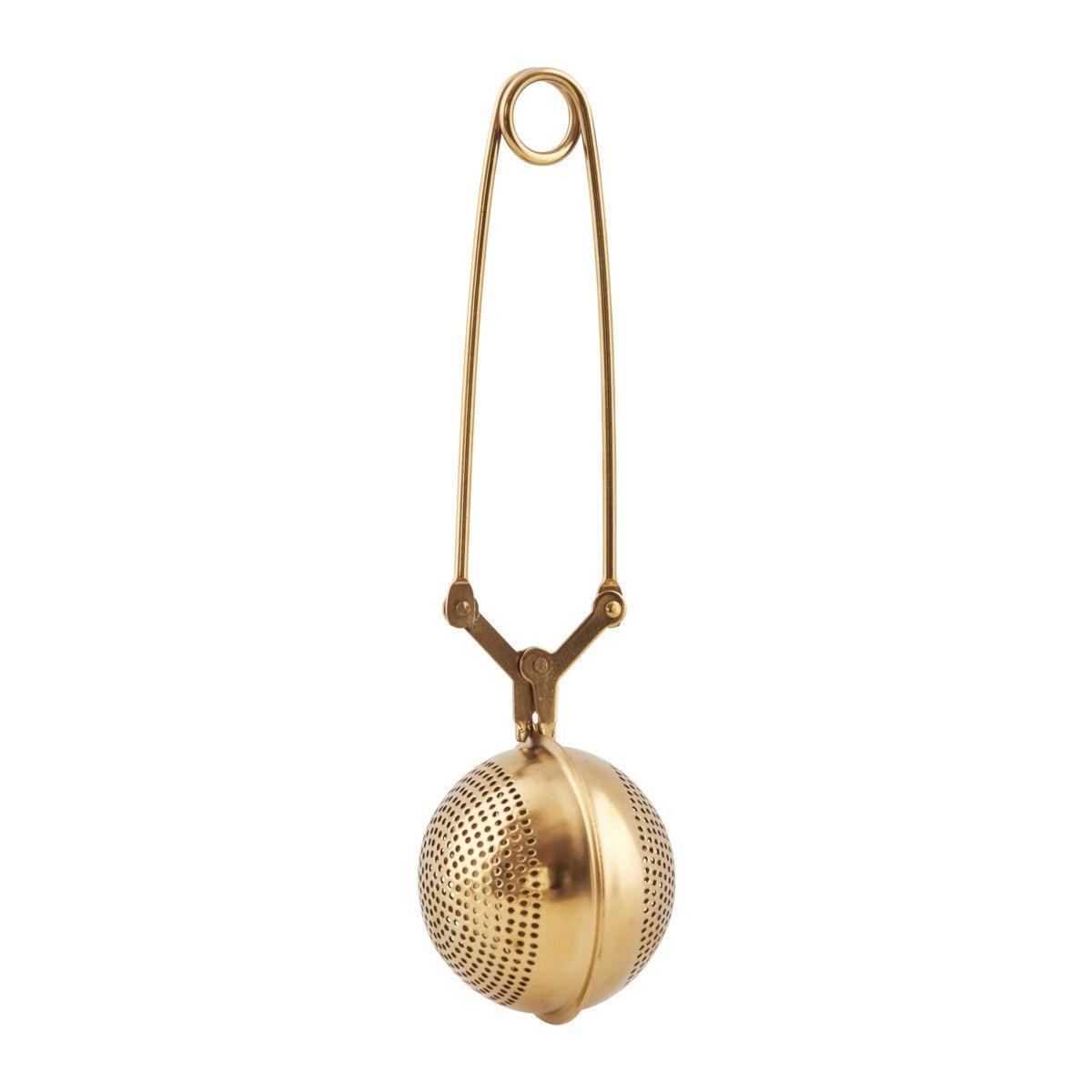 Nicolas Vahé Sítko na čaj Ball Gold, zlatá barva, kov