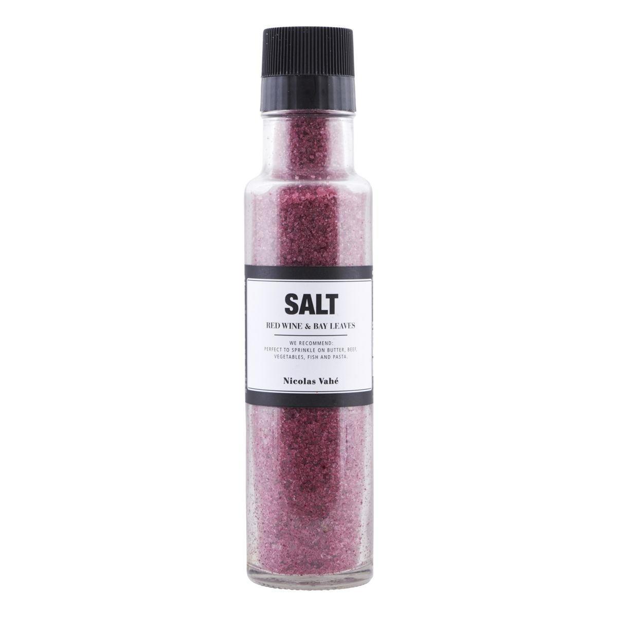 Nicolas Vahé Sůl s červeným vínem a bobkovým listem 340 g