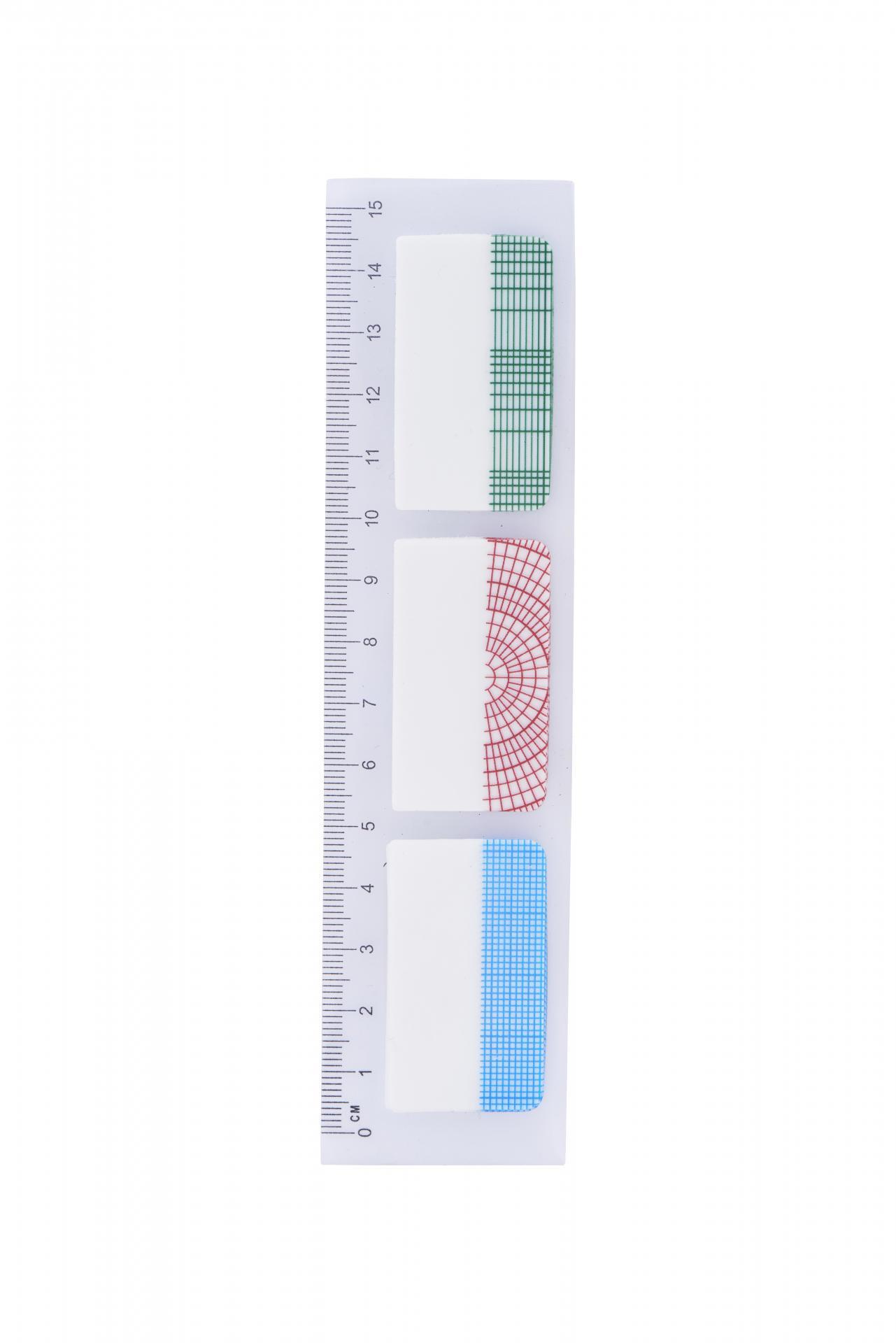 MONOGRAPH Pravítko s lepítky Geometric, multi barva, plast