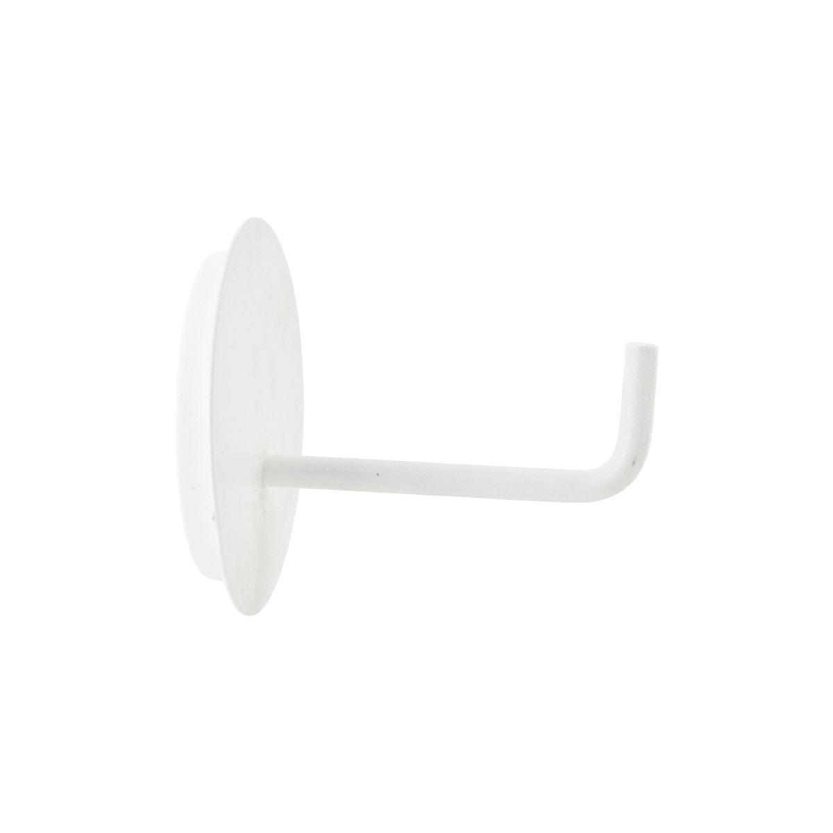 house doctor Držák na toaletní papír White Texture, bílá barva, kov